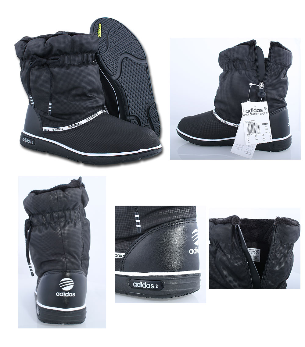 adidas damen winter boots schuhe warm comfort gef ttert winterstiefel schwarz ebay. Black Bedroom Furniture Sets. Home Design Ideas