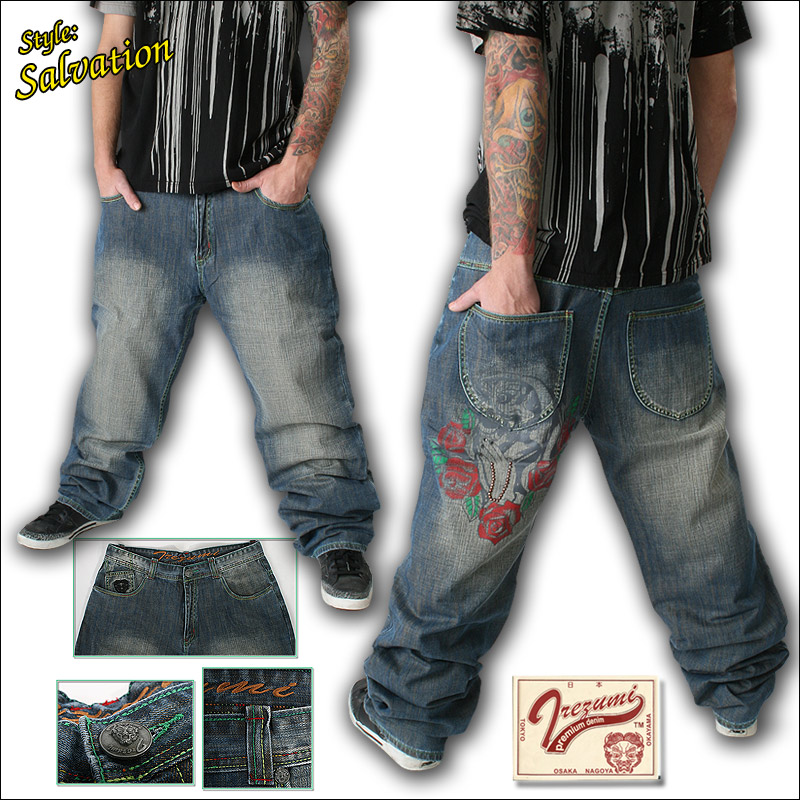 irezumi usa designer jeans tattoo japanese pants special sale ebay. Black Bedroom Furniture Sets. Home Design Ideas