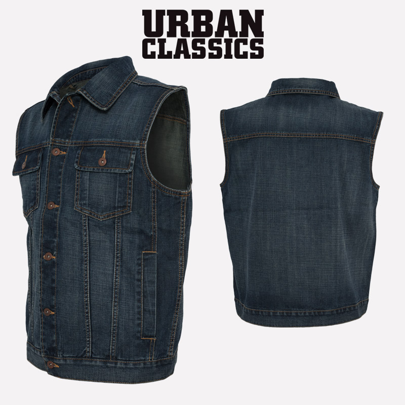 urban classics herren denim vest jeansweste jeans jacke. Black Bedroom Furniture Sets. Home Design Ideas
