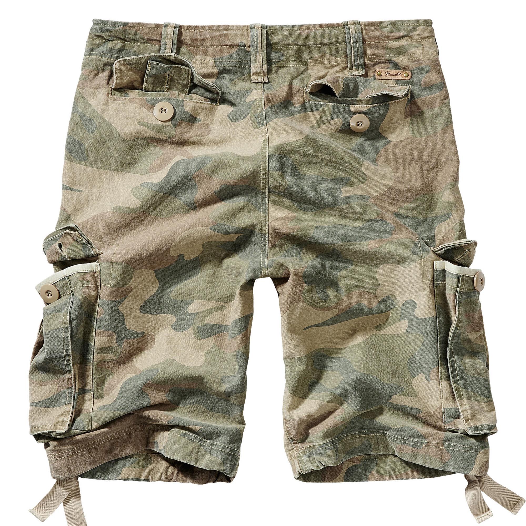 Brandit-Vintage-Herren-Cargo-Shorts-Bermuda-Kurze-Hose-Short-US-Army-Ranger Indexbild 12