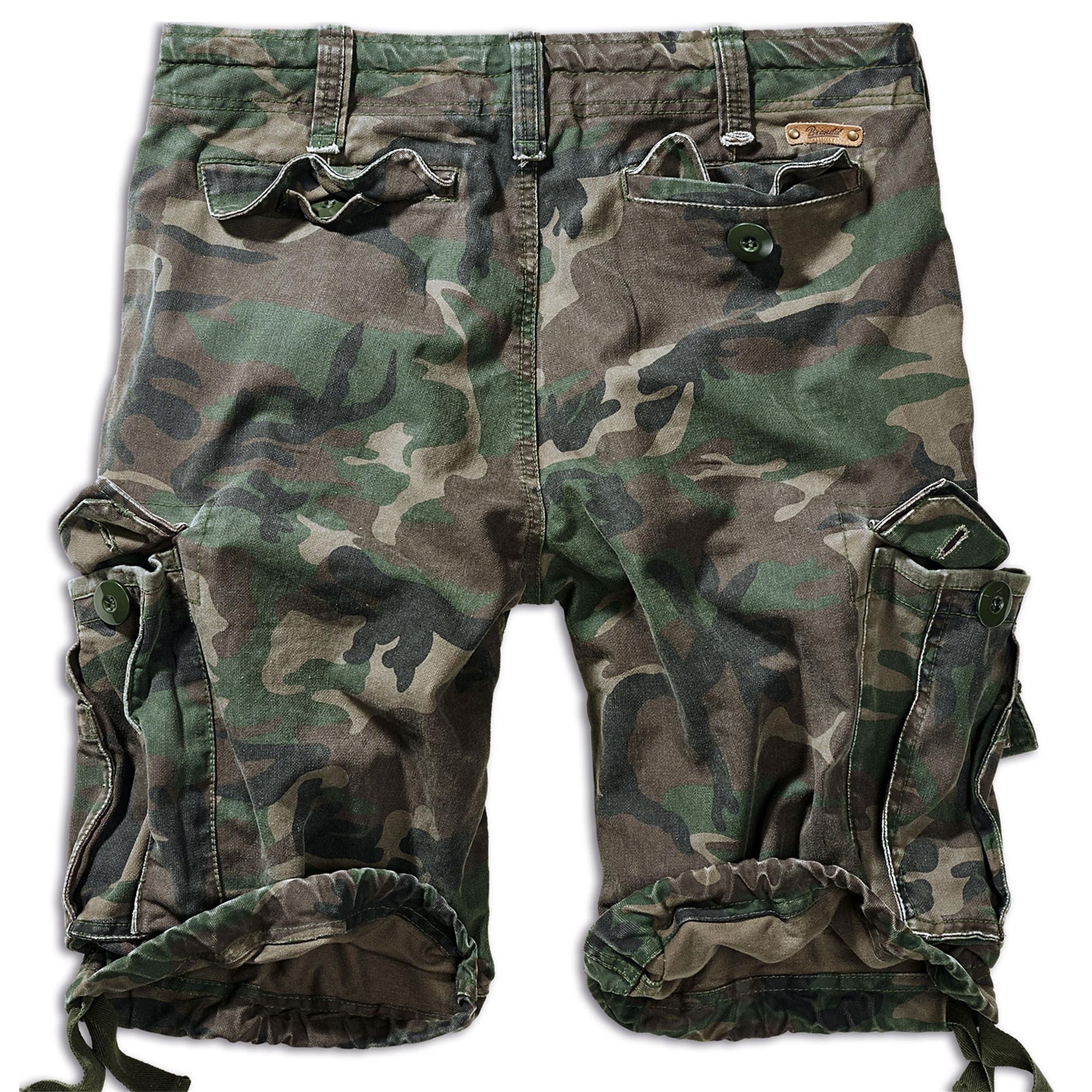 Brandit-Vintage-Herren-Cargo-Shorts-Bermuda-Kurze-Hose-Short-US-Army-Ranger Indexbild 18