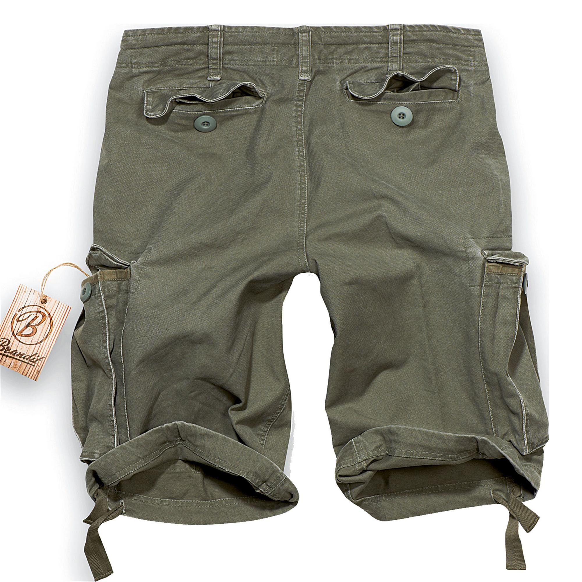 Brandit-Vintage-Herren-Cargo-Shorts-Bermuda-Kurze-Hose-Short-US-Army-Ranger Indexbild 6