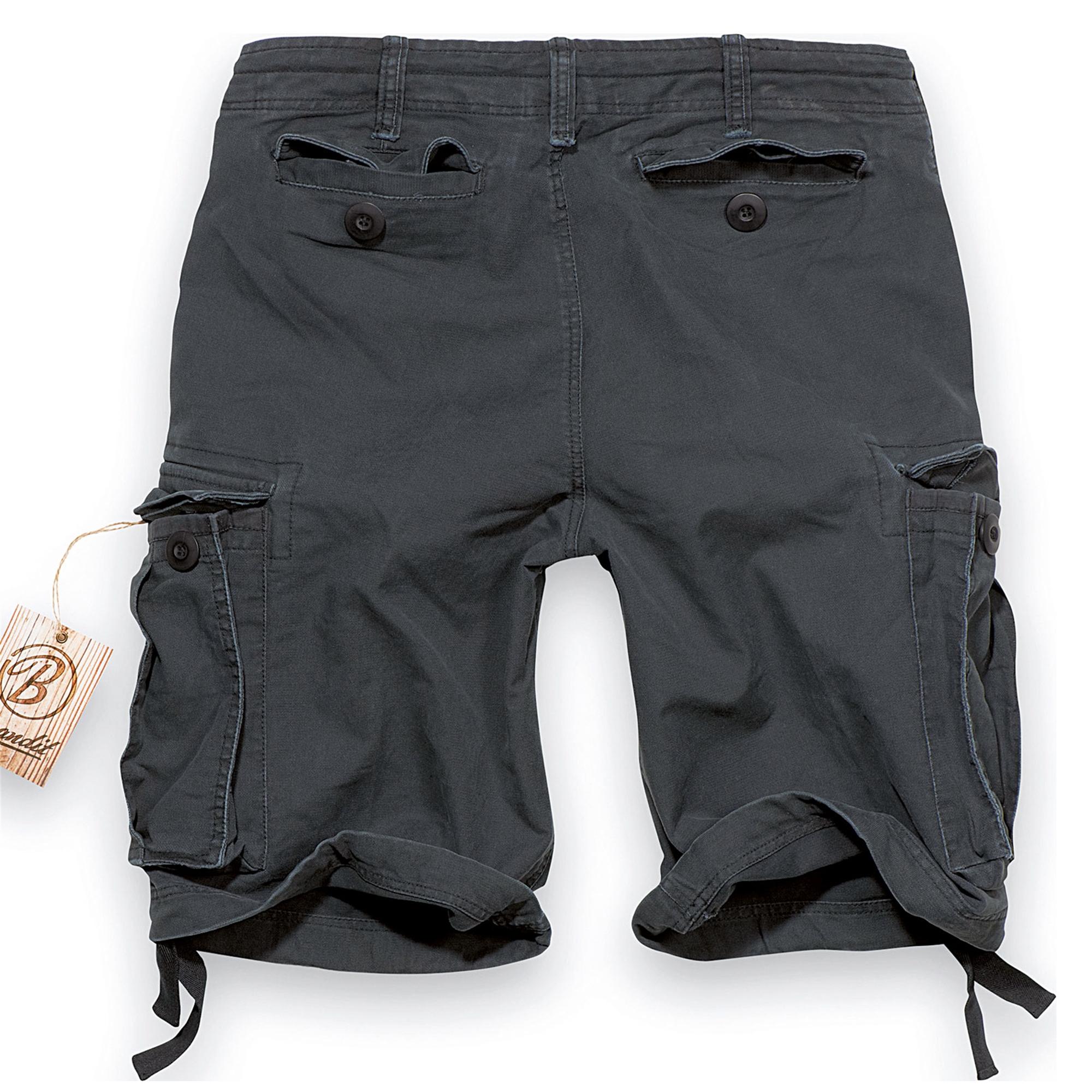 Brandit-Vintage-Herren-Cargo-Shorts-Bermuda-Kurze-Hose-Short-US-Army-Ranger Indexbild 3