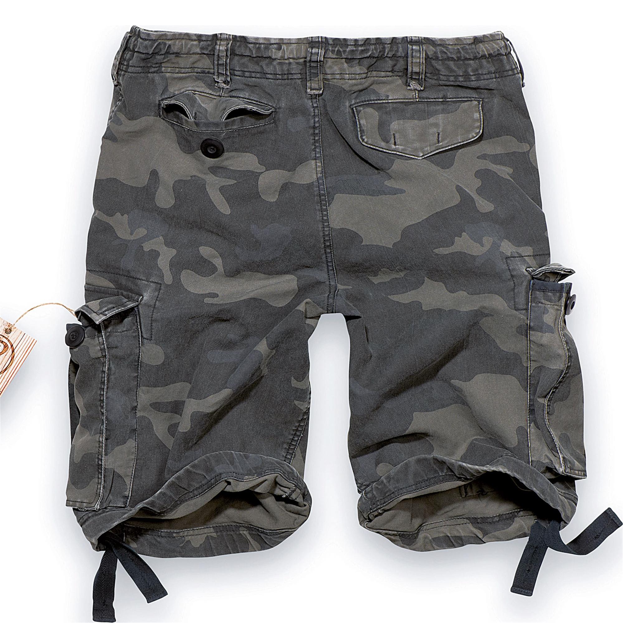 Brandit-Vintage-Herren-Cargo-Shorts-Bermuda-Kurze-Hose-Short-US-Army-Ranger Indexbild 10