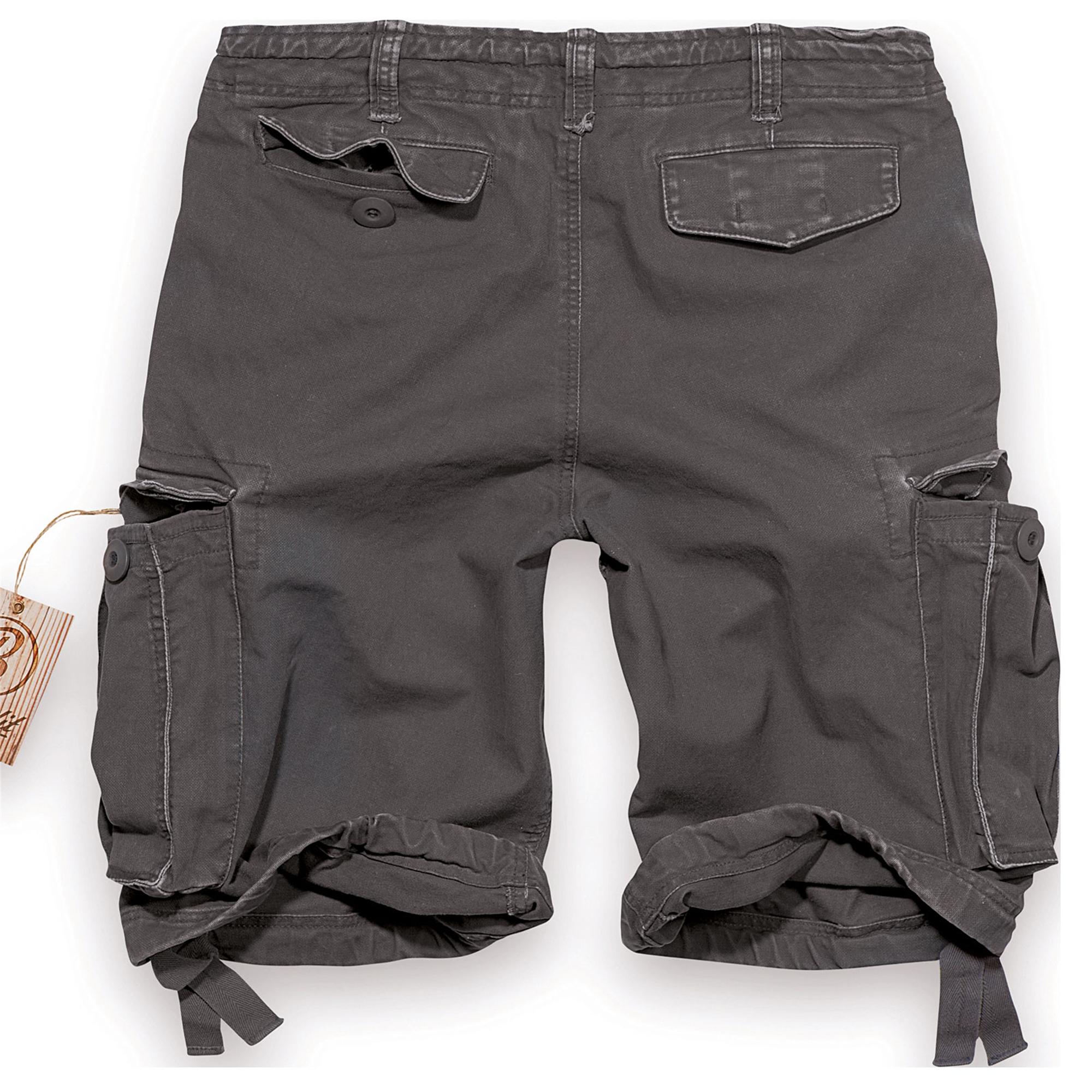 Brandit-Vintage-Herren-Cargo-Shorts-Bermuda-Kurze-Hose-Short-US-Army-Ranger Indexbild 8