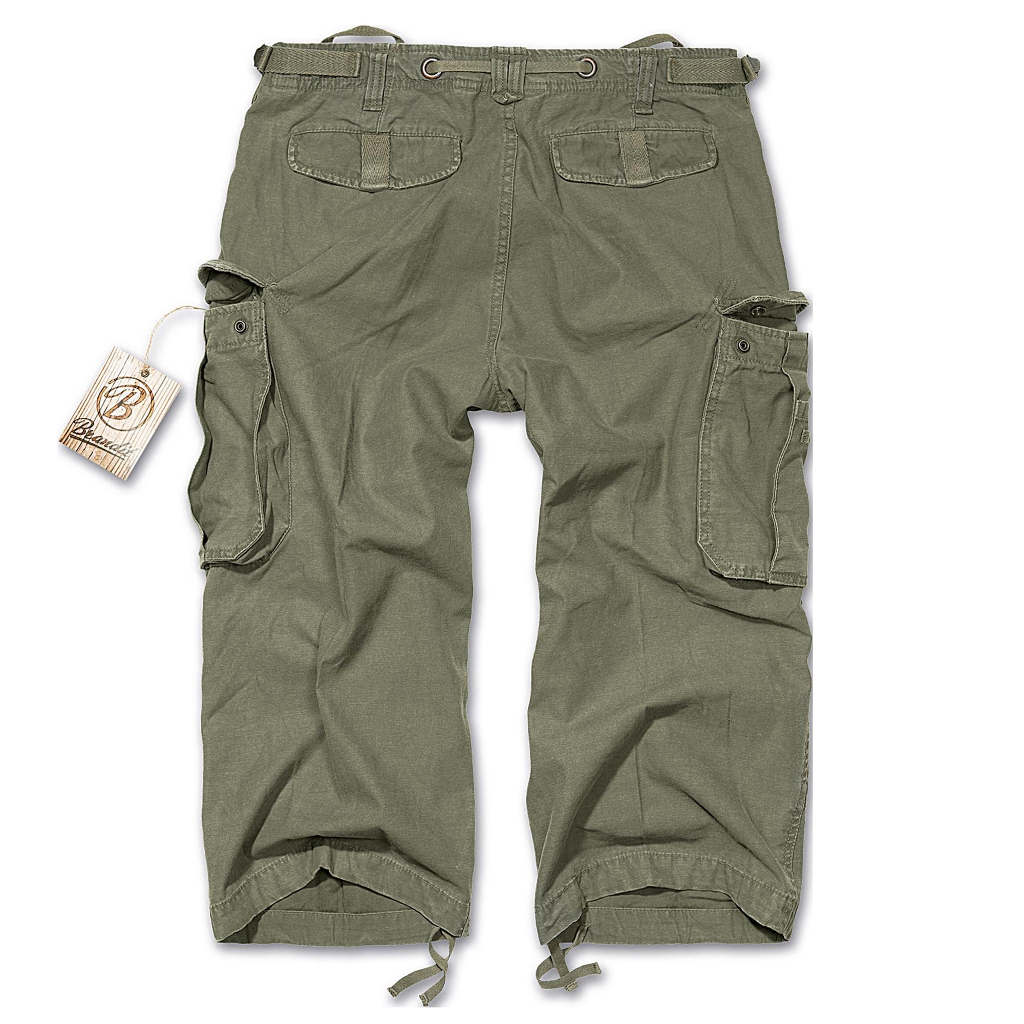 Brandit-Industry-3-4-Herren-Cargo-Shorts-Bermuda-Kurze-Hose-Short-US-Army-Ranger Indexbild 3