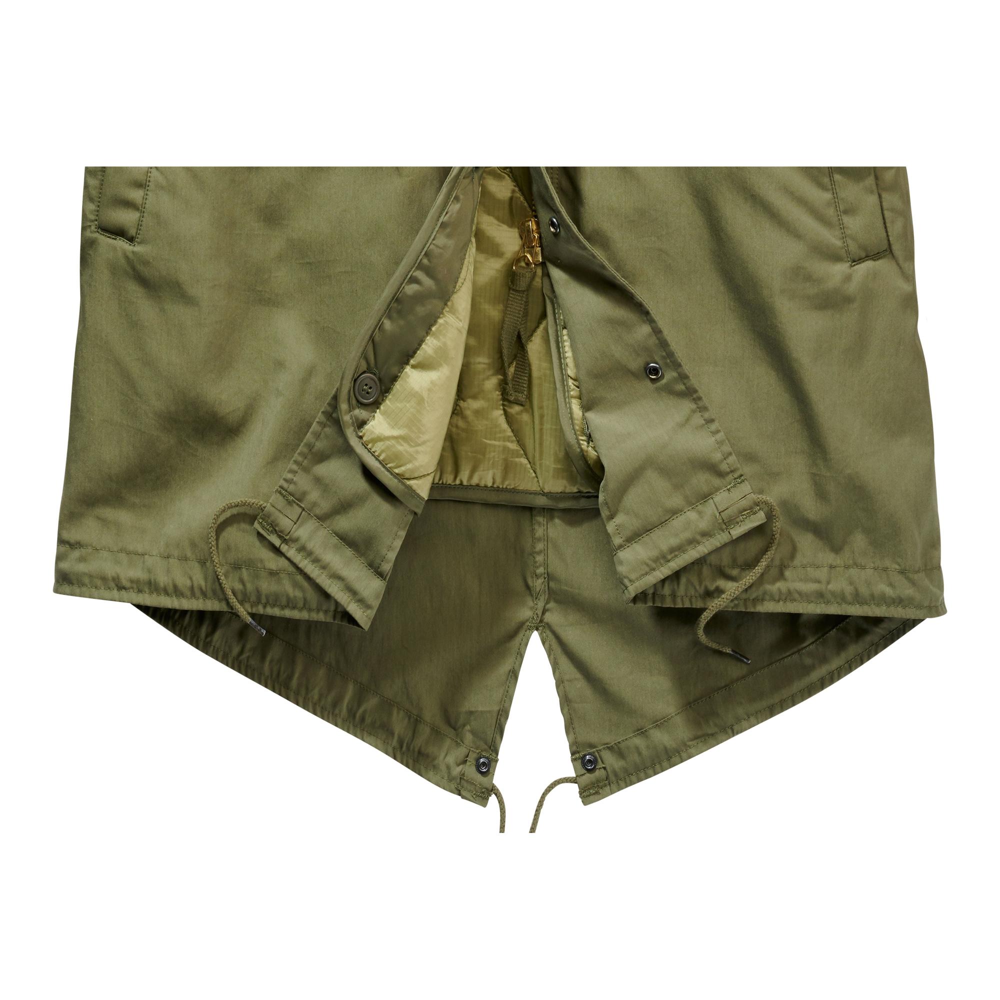 Indexbild 10 - Brandit US M51 Parka Winterjacke Fishtail Jacke Gefüttert Armee S-5XL