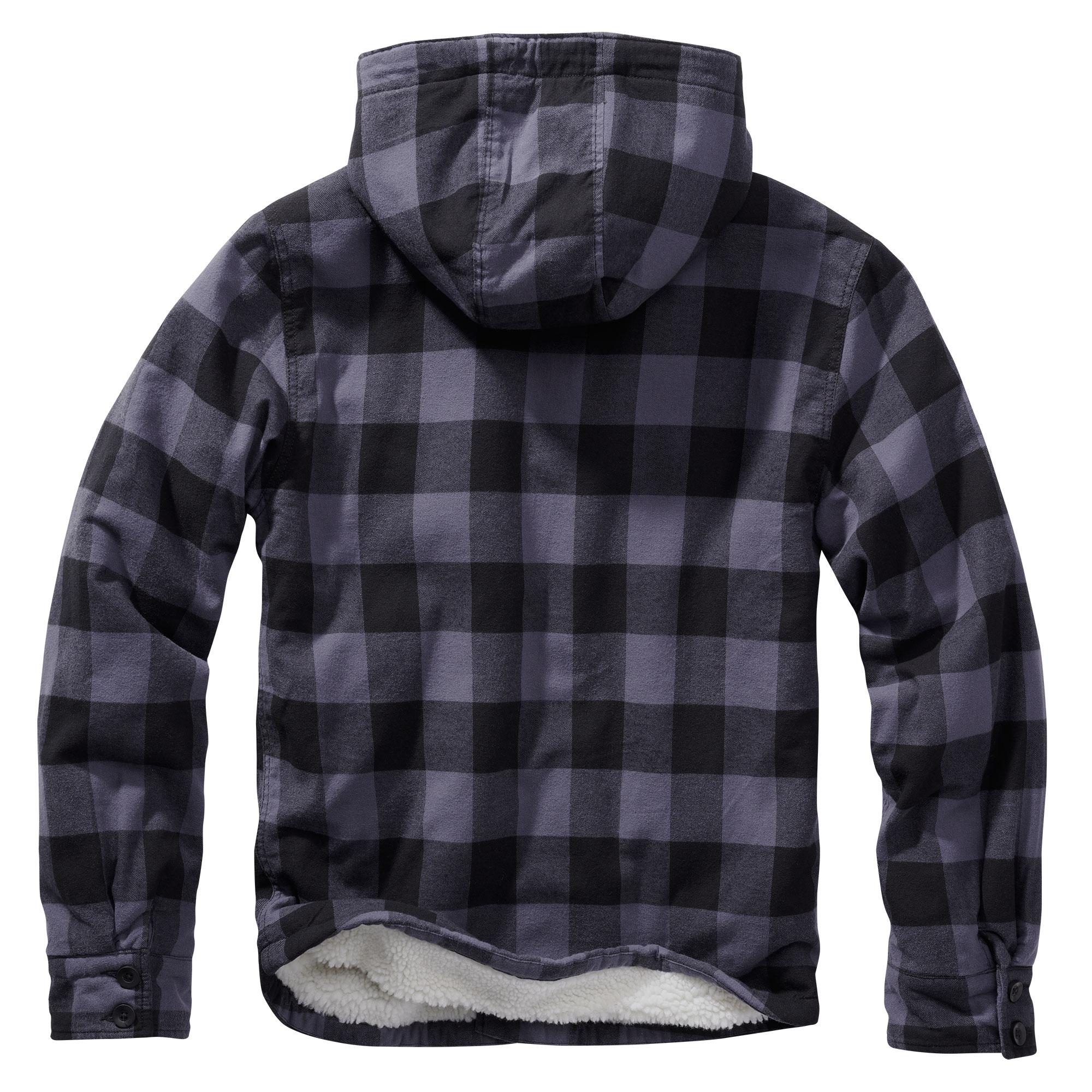 Brandit-Lumberjack-Kapuzen-Jacke-gefuettert-Holzfaellerhemd-Winterjacke-S-5XL Indexbild 4