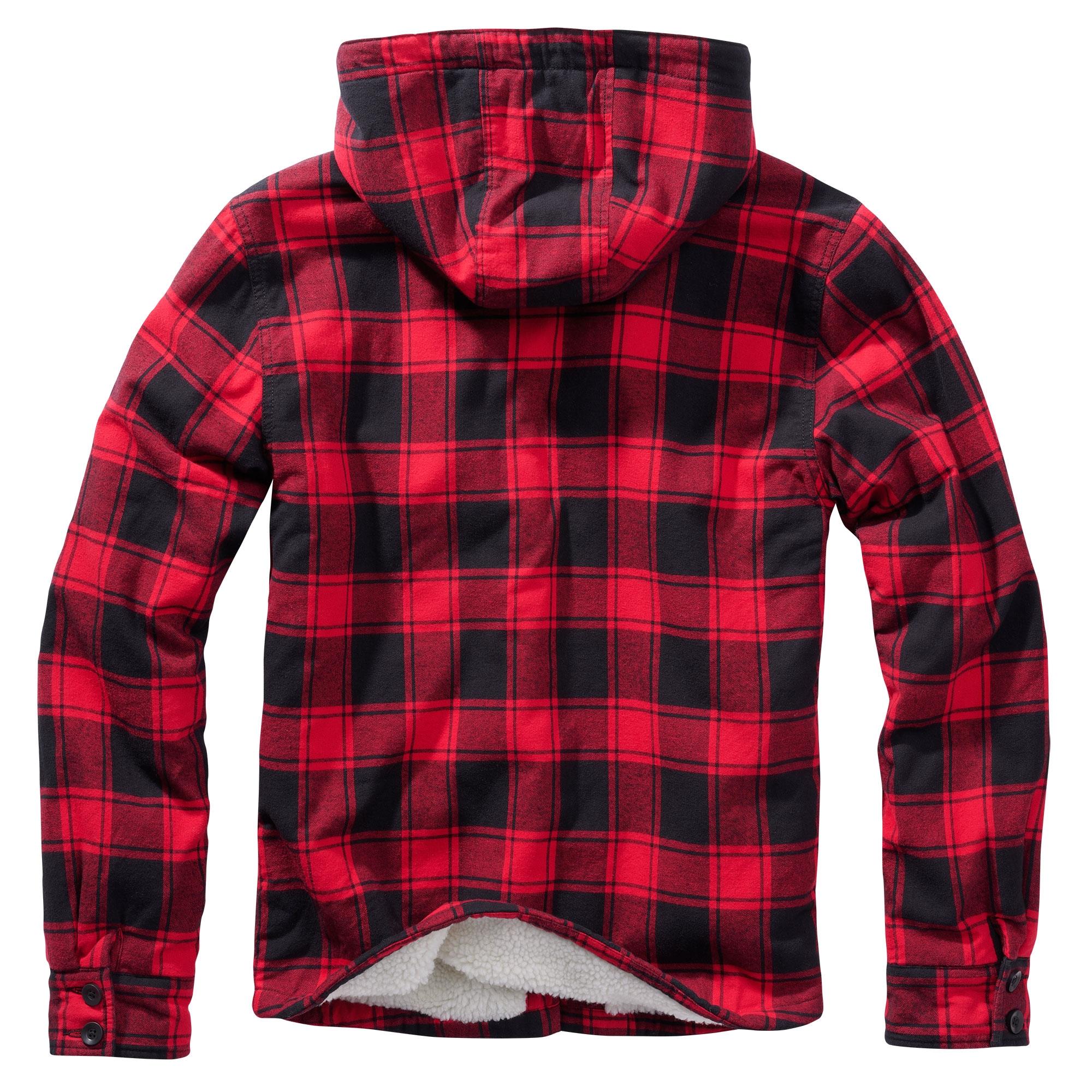 Brandit-Lumberjack-Kapuzen-Jacke-gefuettert-Holzfaellerhemd-Winterjacke-S-5XL Indexbild 7