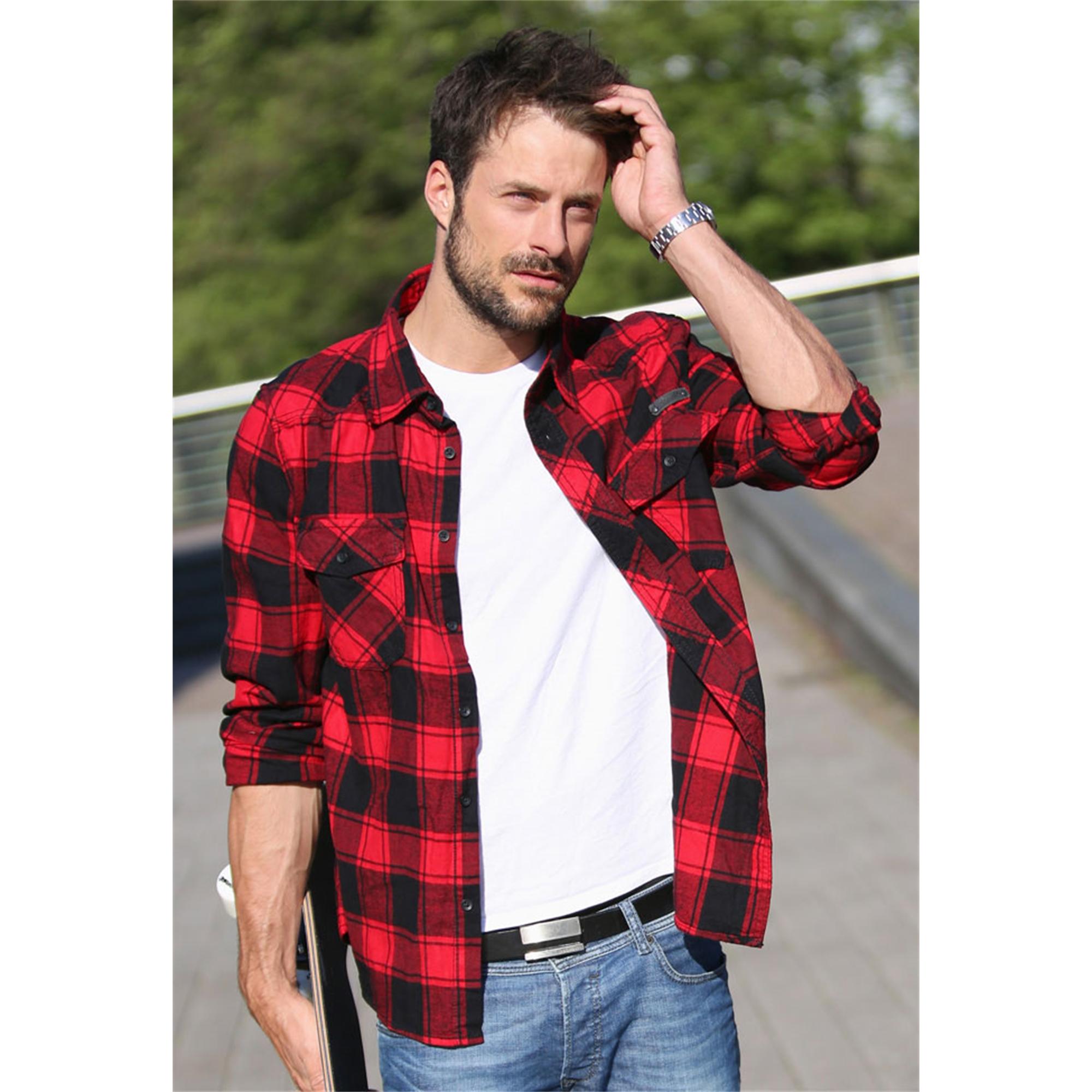 Indexbild 9 - Brandit Check Shirt Holzfäller Hemd Flanell Woodcutter Karo Freizeithemd S-7XL