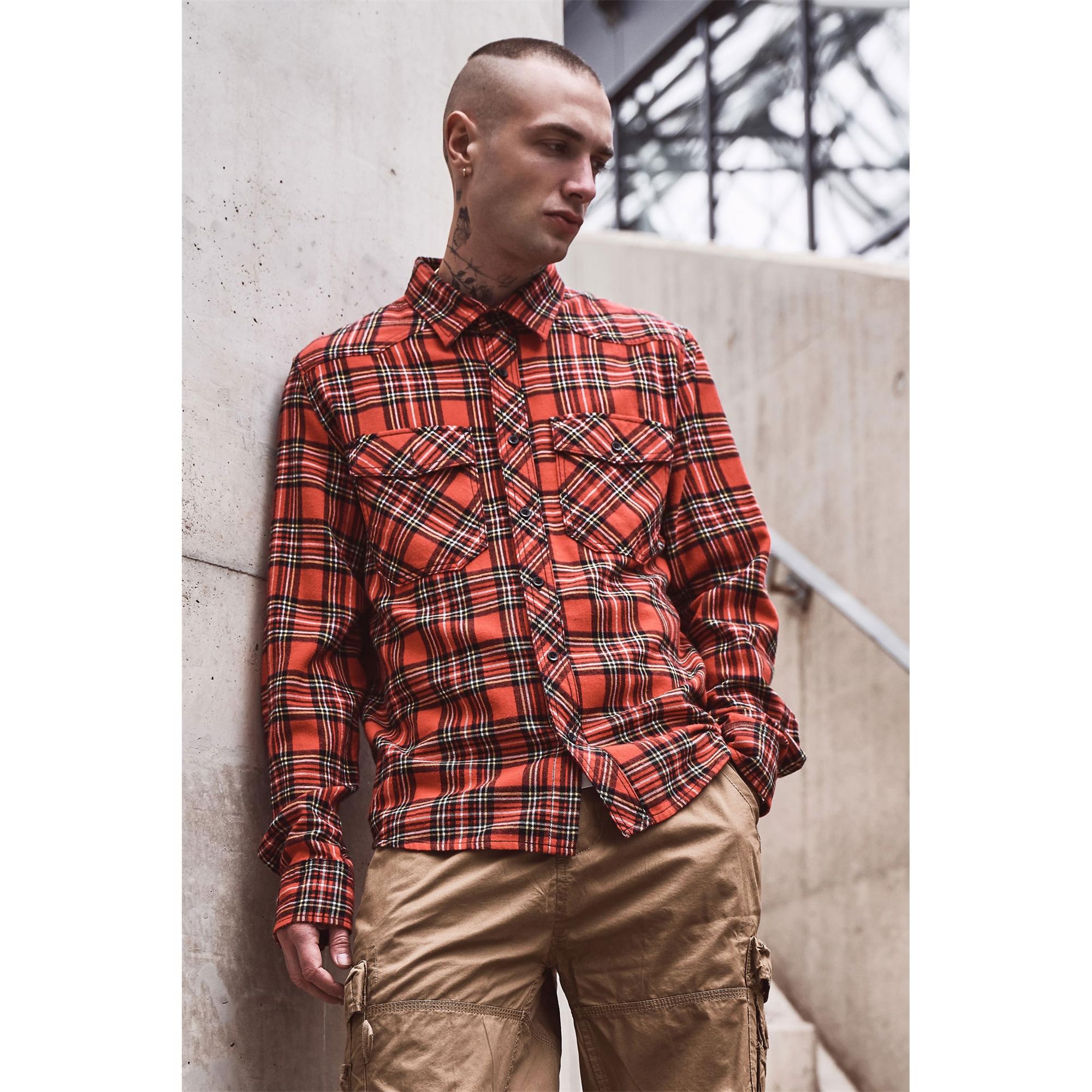 Indexbild 11 - Brandit Check Shirt Holzfäller Hemd Flanell Woodcutter Karo Freizeithemd S-7XL