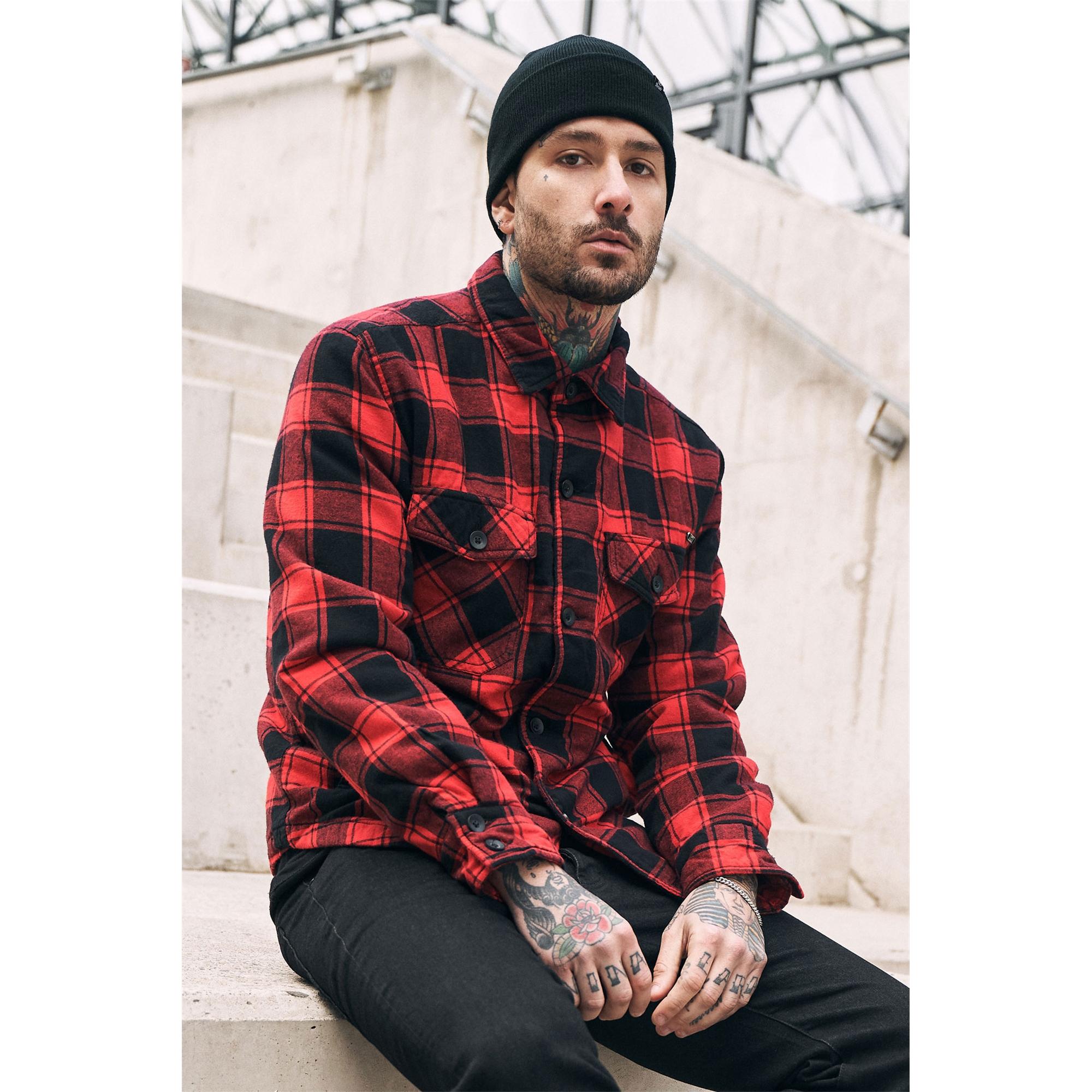 Brandit-Lumberjacket-Maenner-Ubergangsjacke-Holzfaellerhemd-Jacke-S-5XL Indexbild 5