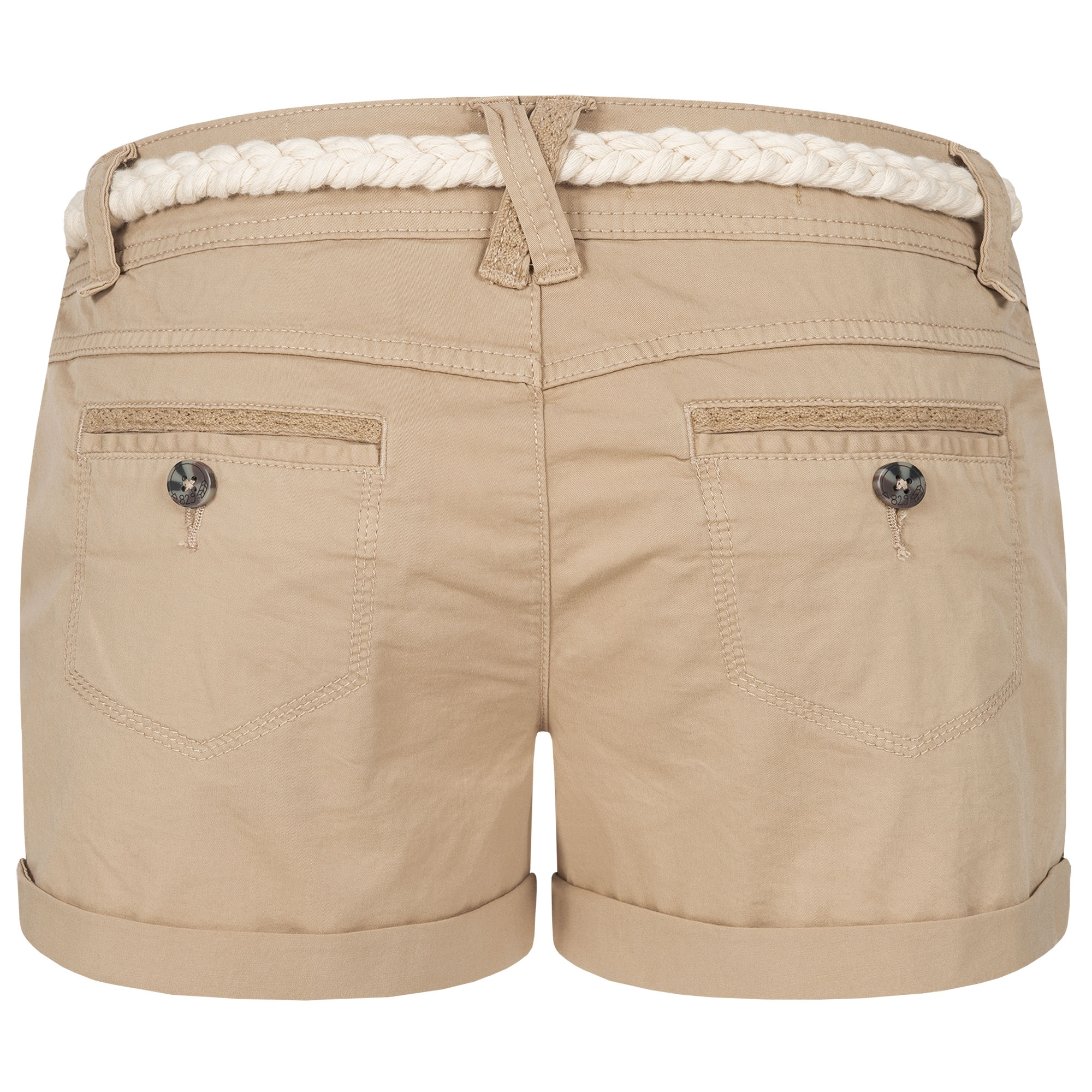 Indexbild 25 - Eight2Nine Damen Chino Bermuda Stretch Shorts mit Flecht Gürtel Hotpants