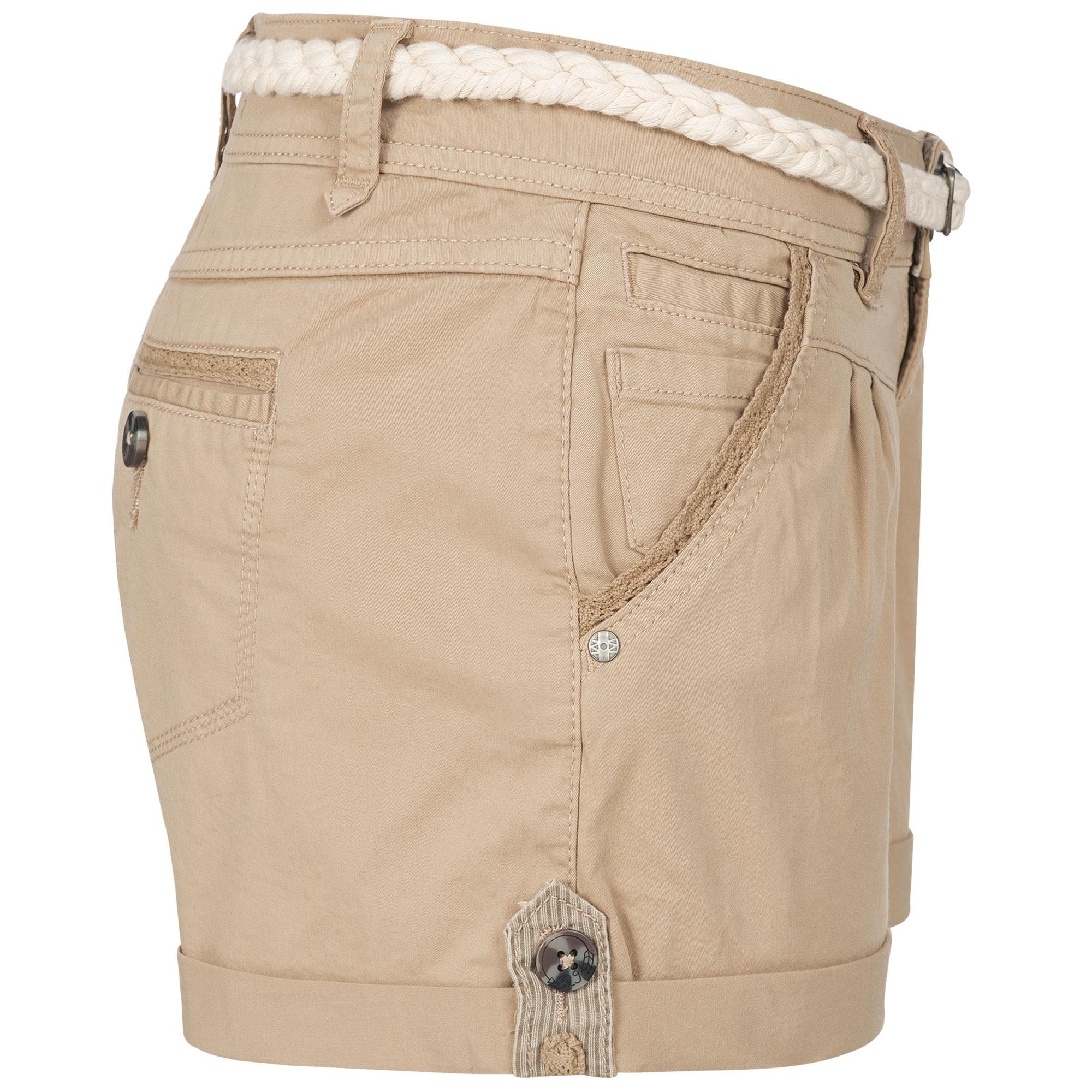 Indexbild 26 - Eight2Nine Damen Chino Bermuda Stretch Shorts mit Flecht Gürtel Hotpants