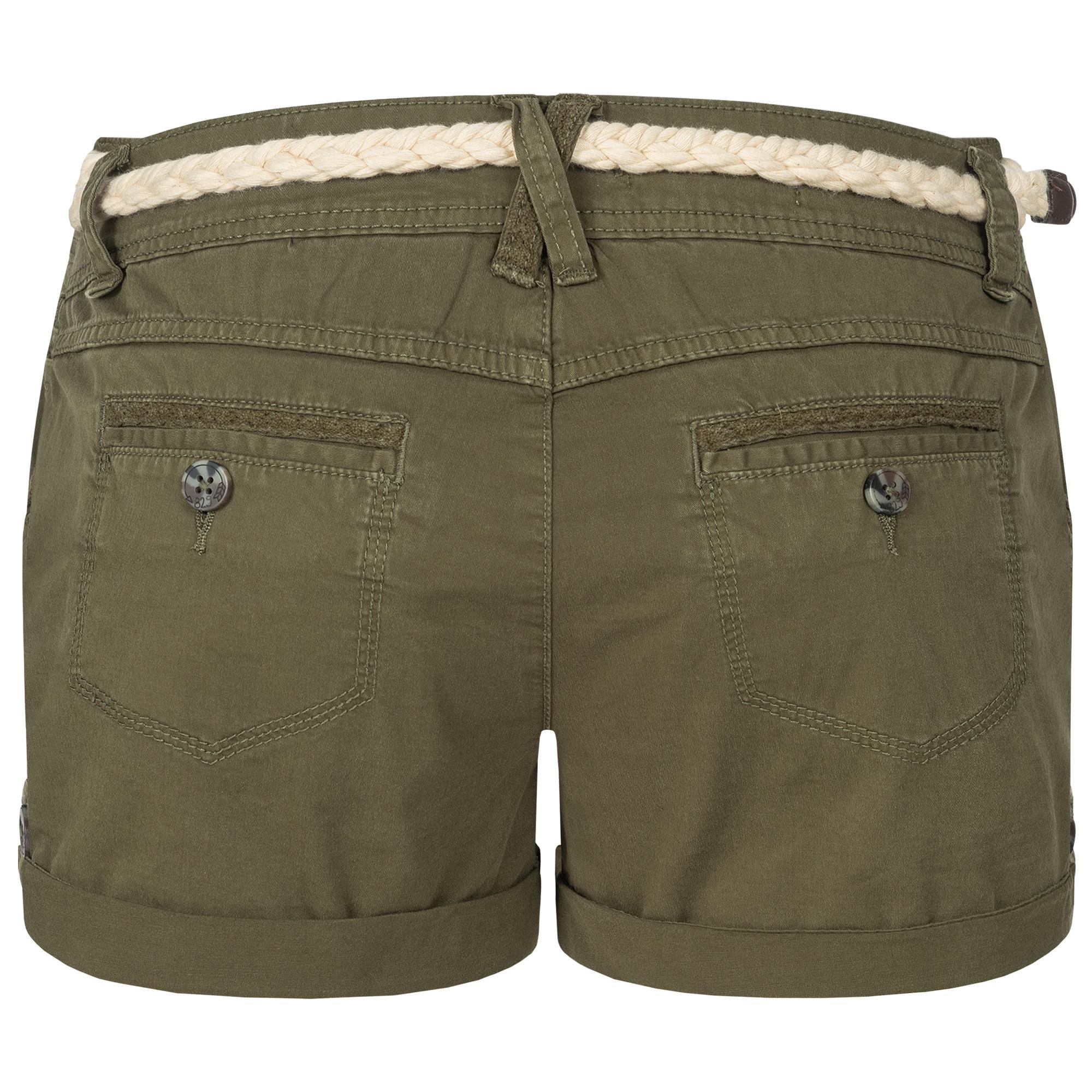 Indexbild 20 - Eight2Nine Damen Chino Bermuda Stretch Shorts mit Flecht Gürtel Hotpants