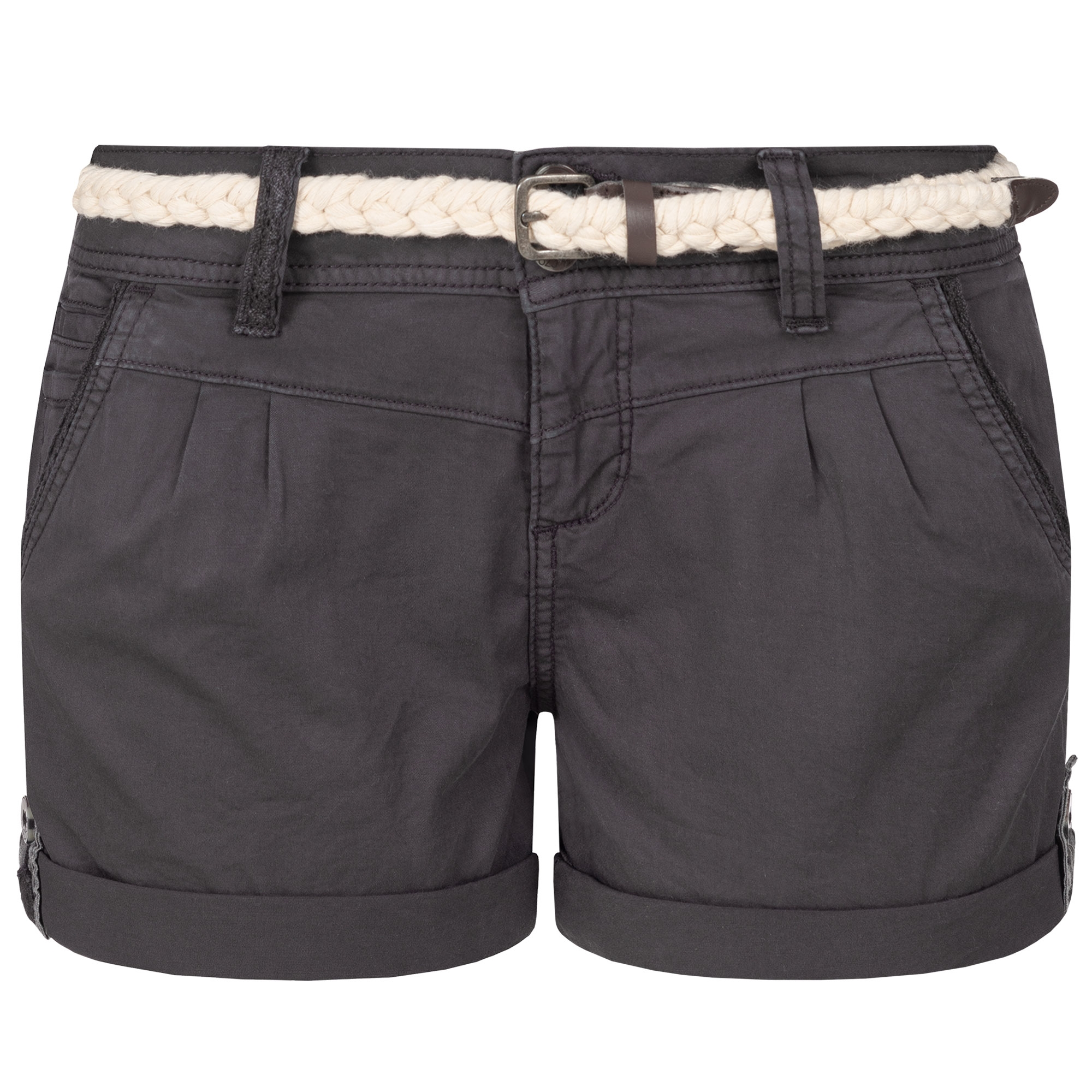 Indexbild 4 - Eight2Nine Damen Chino Bermuda Stretch Shorts mit Flecht Gürtel Hotpants
