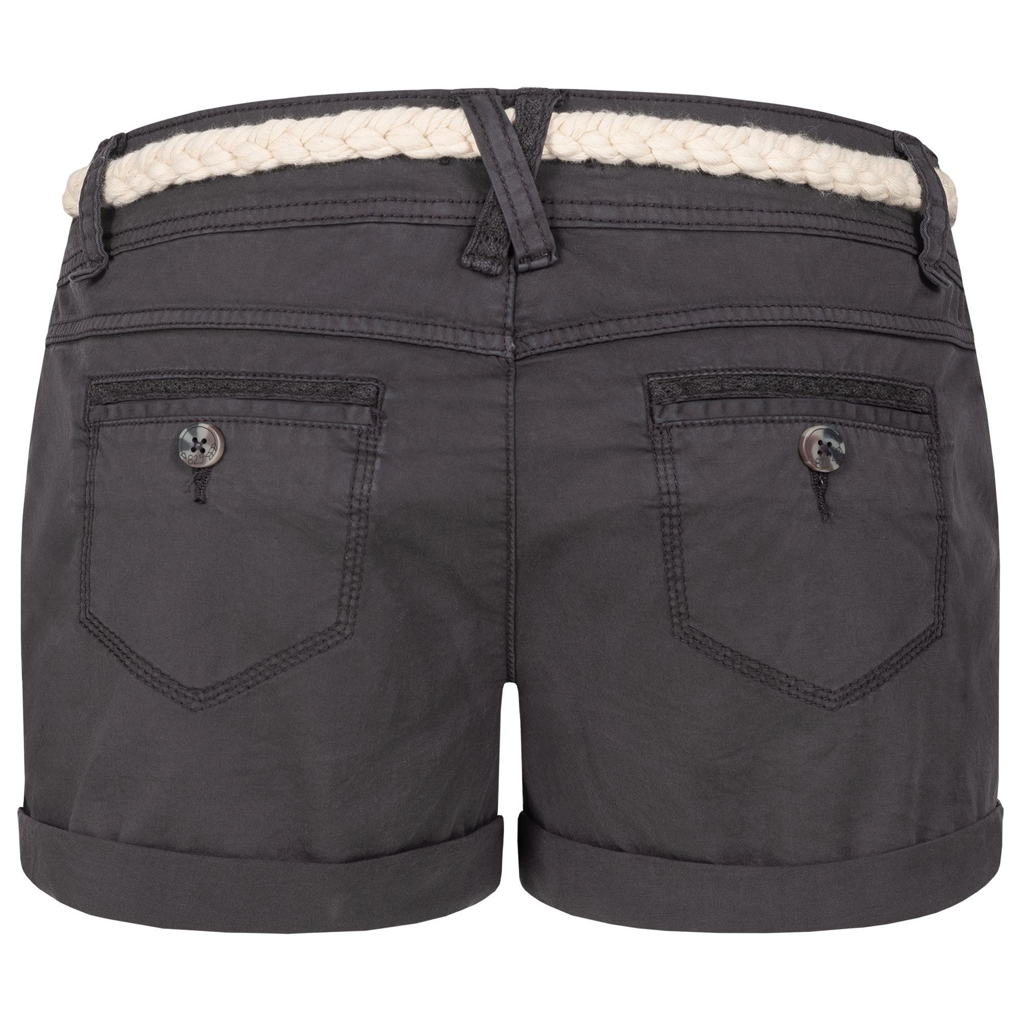 Indexbild 5 - Eight2Nine Damen Chino Bermuda Stretch Shorts mit Flecht Gürtel Hotpants