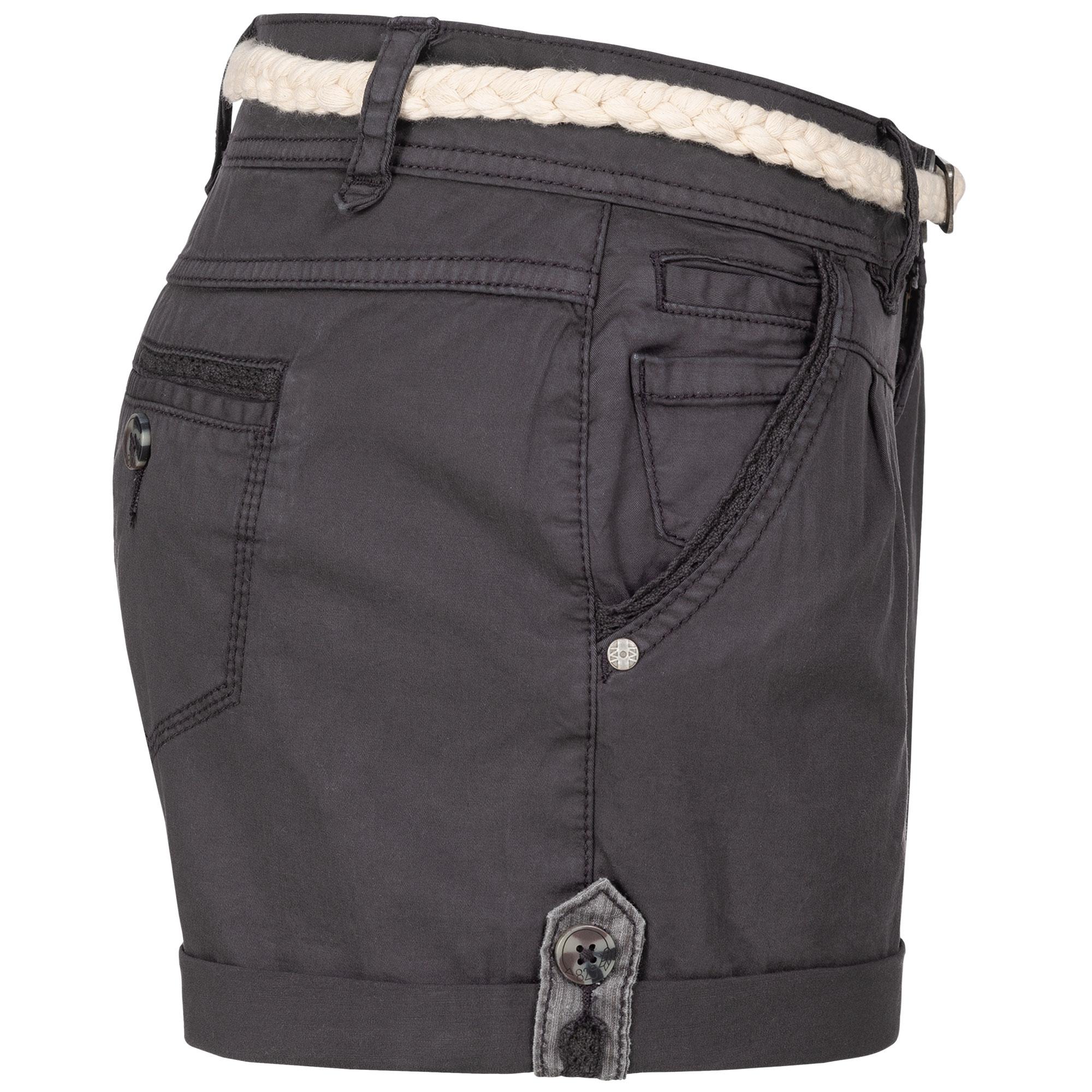 Indexbild 6 - Eight2Nine Damen Chino Bermuda Stretch Shorts mit Flecht Gürtel Hotpants