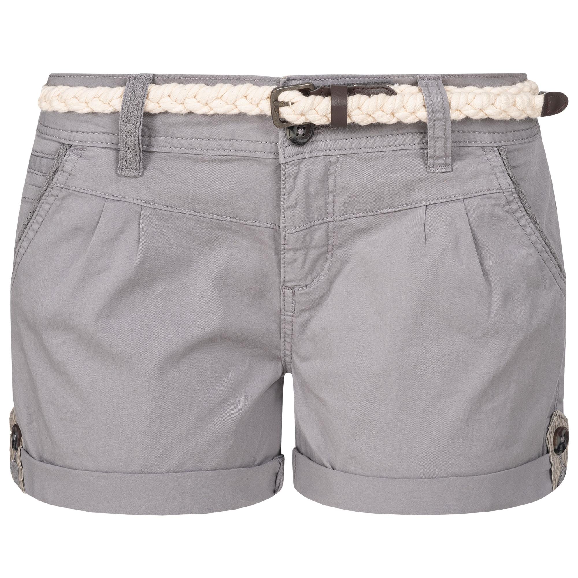 Indexbild 14 - Eight2Nine Damen Chino Bermuda Stretch Shorts mit Flecht Gürtel Hotpants