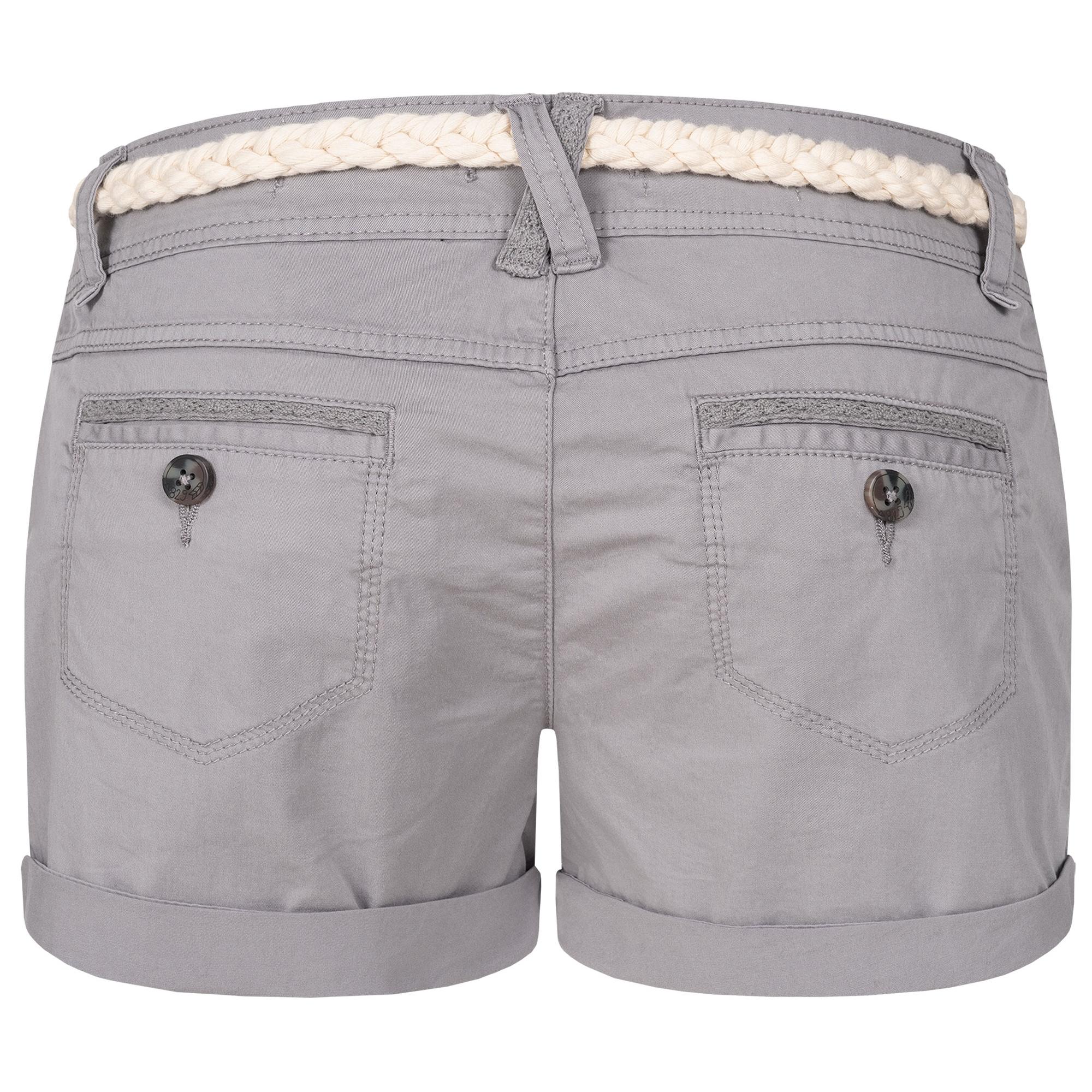Indexbild 15 - Eight2Nine Damen Chino Bermuda Stretch Shorts mit Flecht Gürtel Hotpants