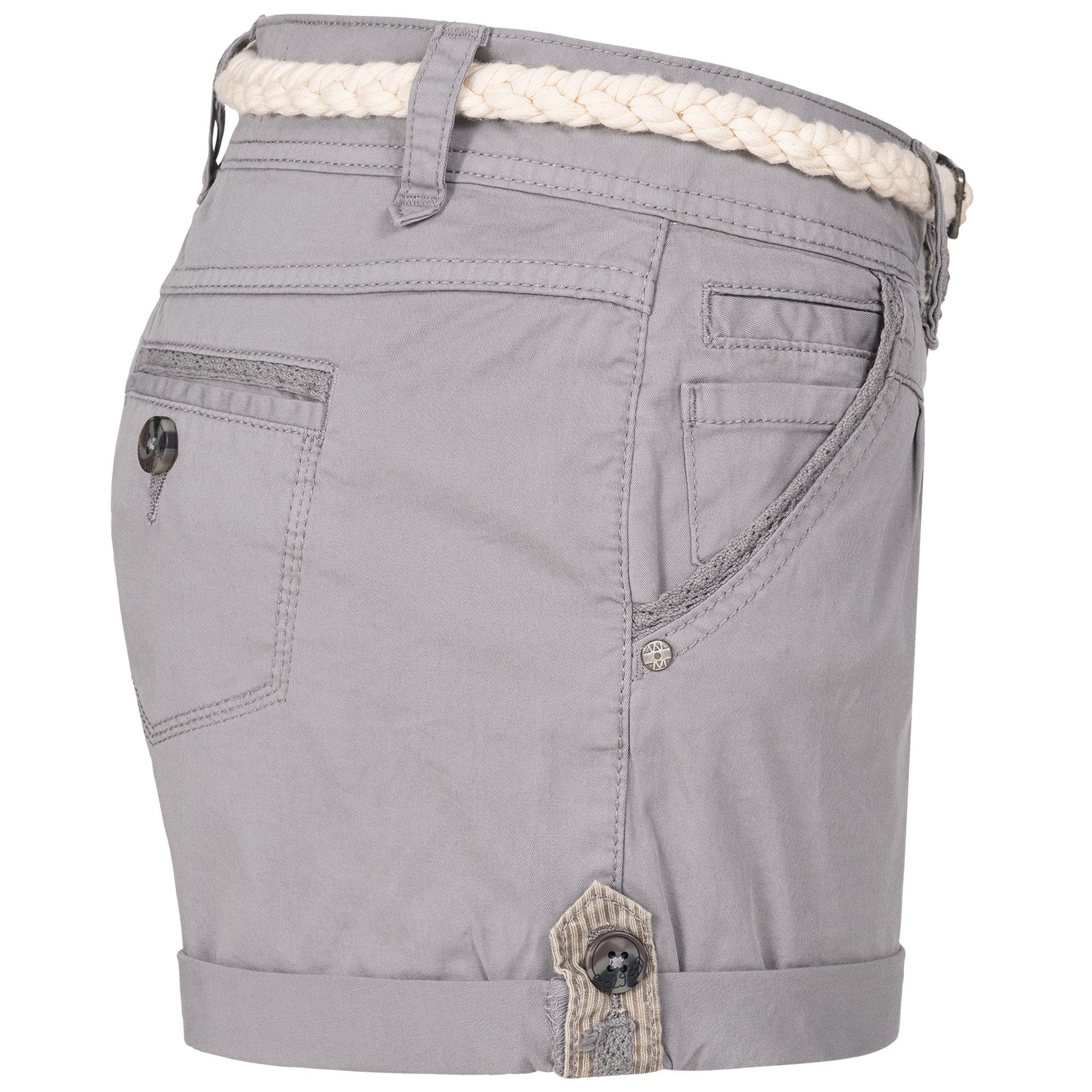 Indexbild 16 - Eight2Nine Damen Chino Bermuda Stretch Shorts mit Flecht Gürtel Hotpants