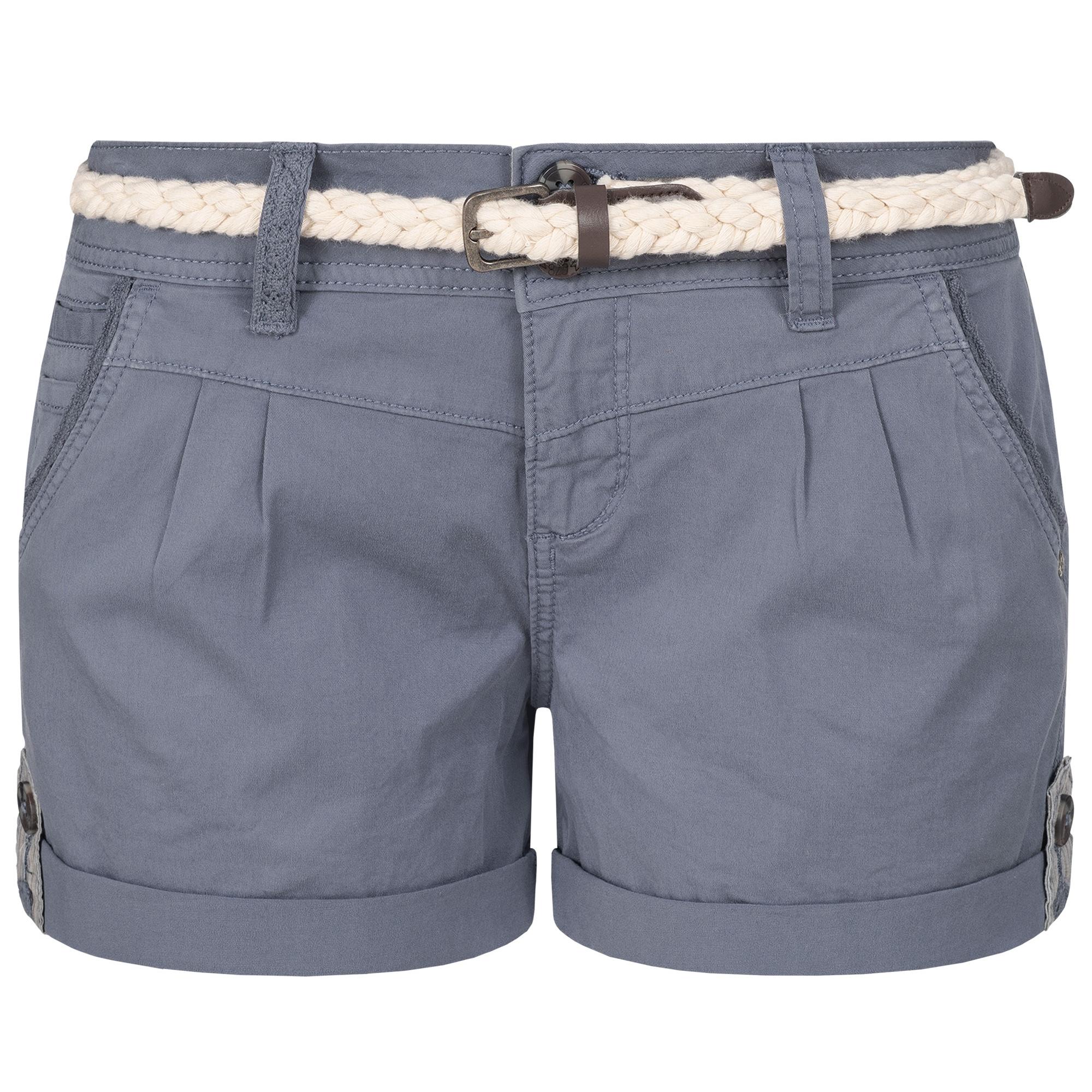 Indexbild 9 - Eight2Nine Damen Chino Bermuda Stretch Shorts mit Flecht Gürtel Hotpants