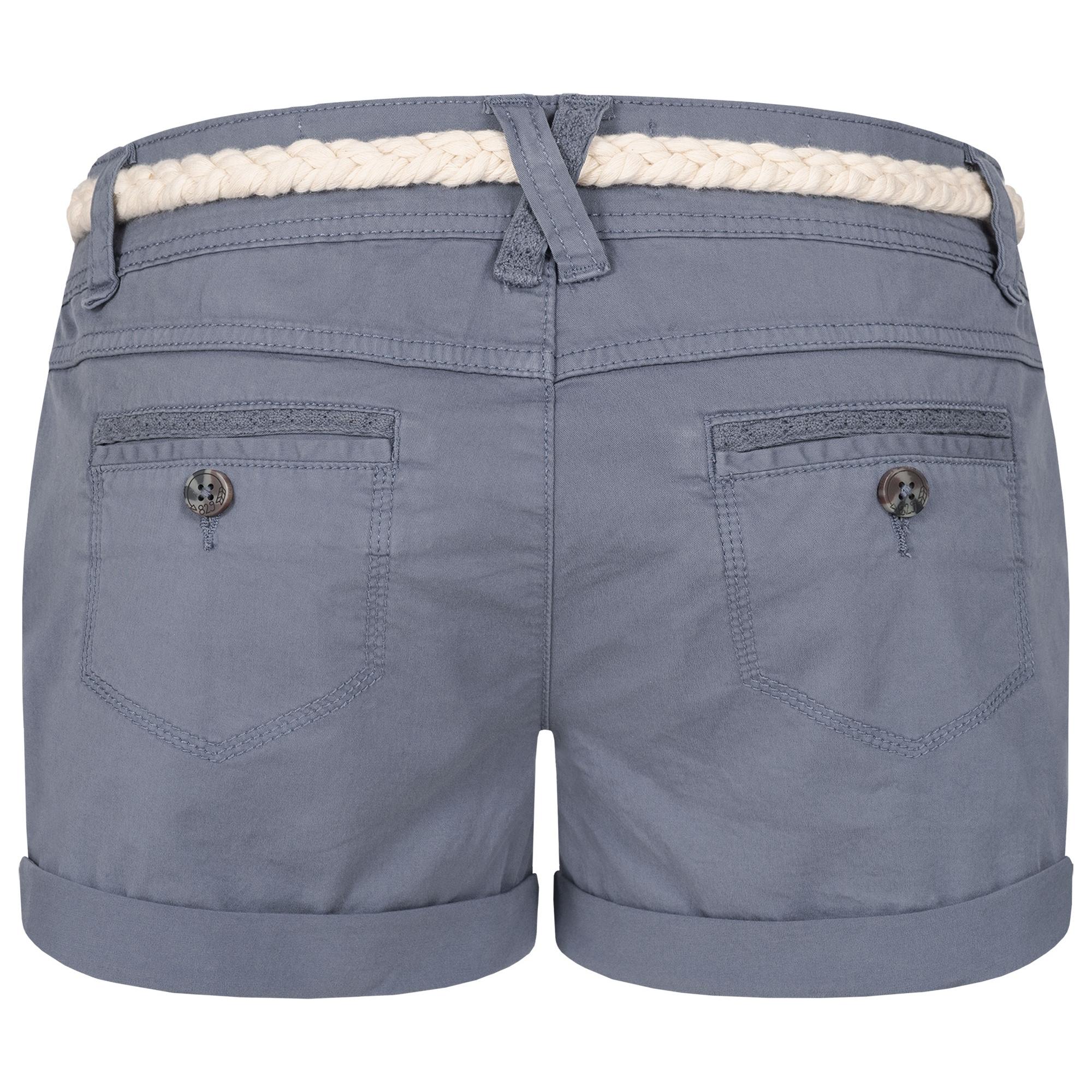 Indexbild 10 - Eight2Nine Damen Chino Bermuda Stretch Shorts mit Flecht Gürtel Hotpants
