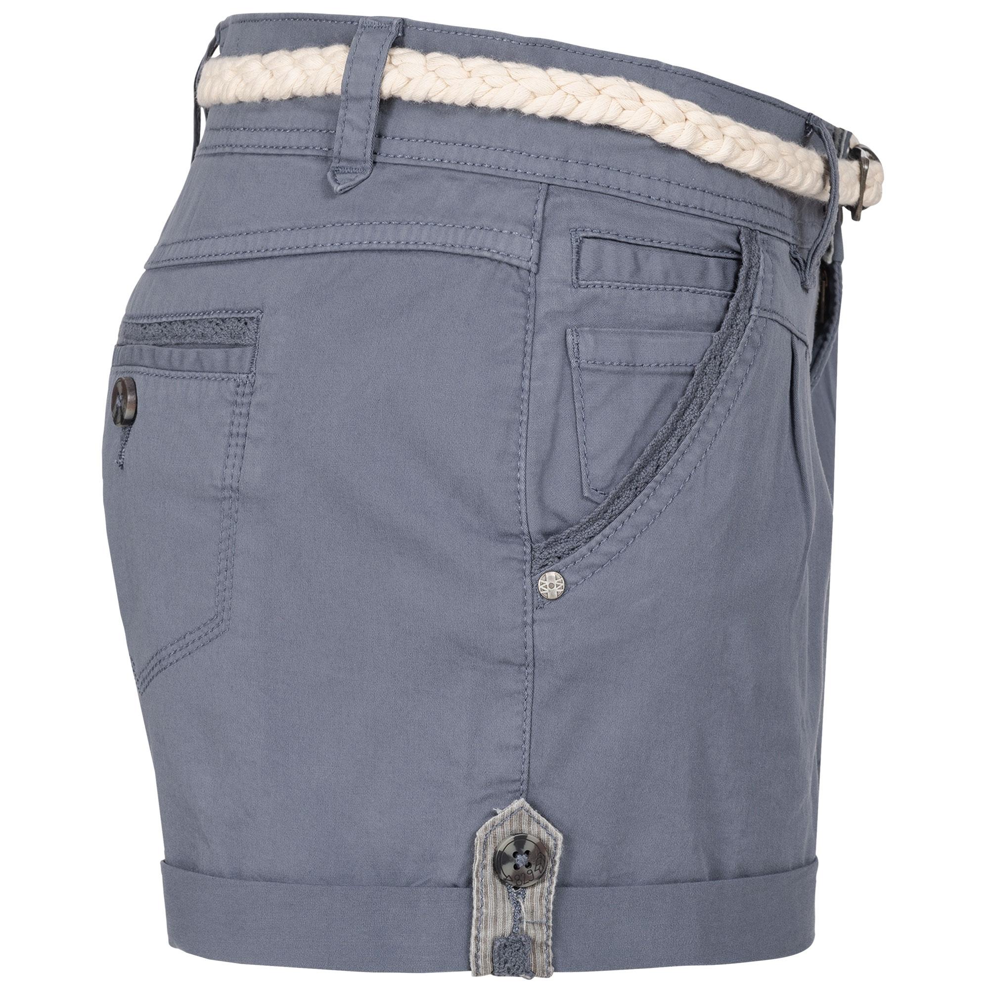 Indexbild 11 - Eight2Nine Damen Chino Bermuda Stretch Shorts mit Flecht Gürtel Hotpants