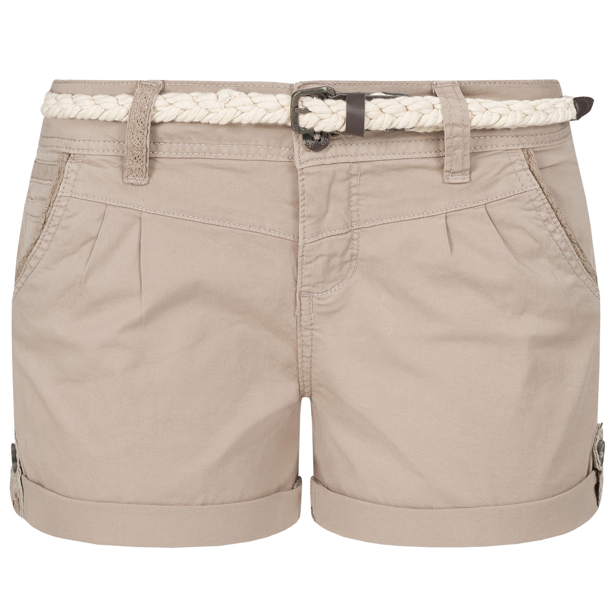 Indexbild 29 - Eight2Nine Damen Chino Bermuda Stretch Shorts mit Flecht Gürtel Hotpants
