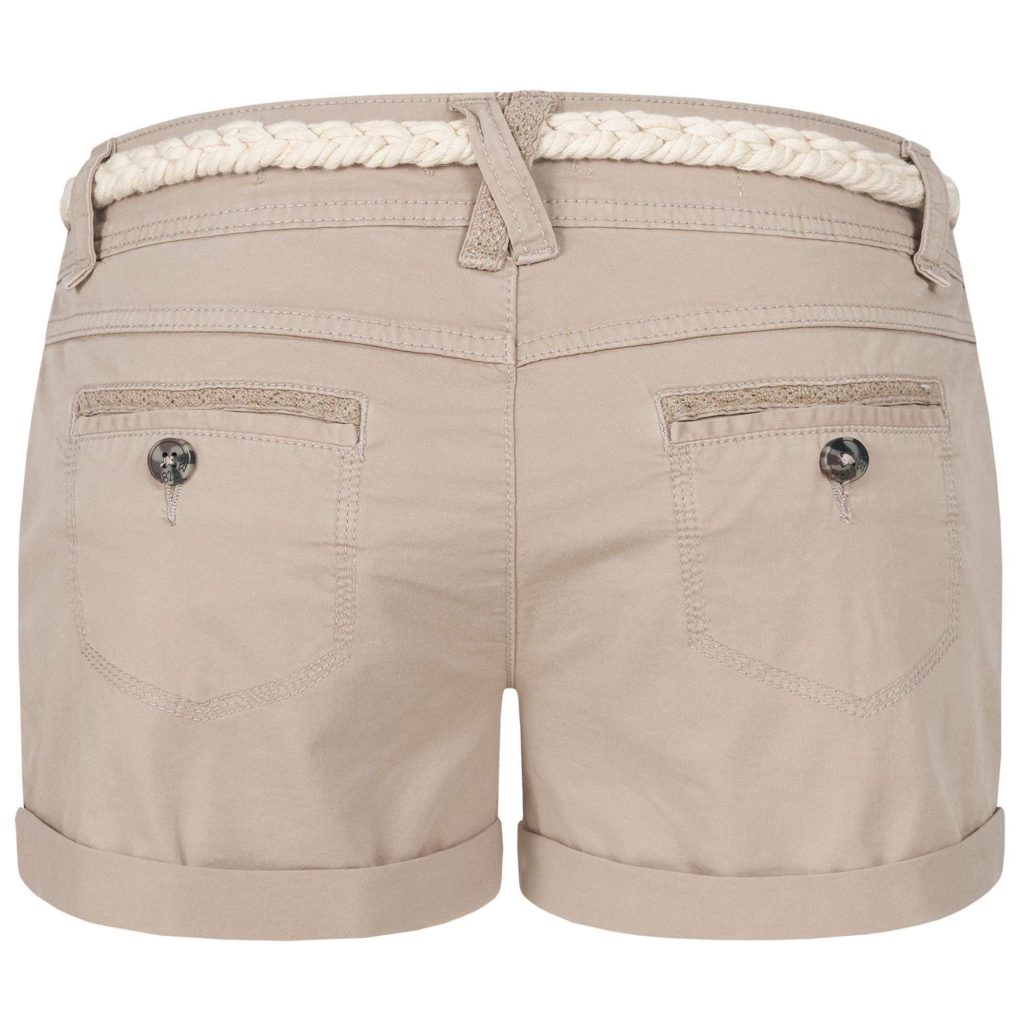 Indexbild 30 - Eight2Nine Damen Chino Bermuda Stretch Shorts mit Flecht Gürtel Hotpants