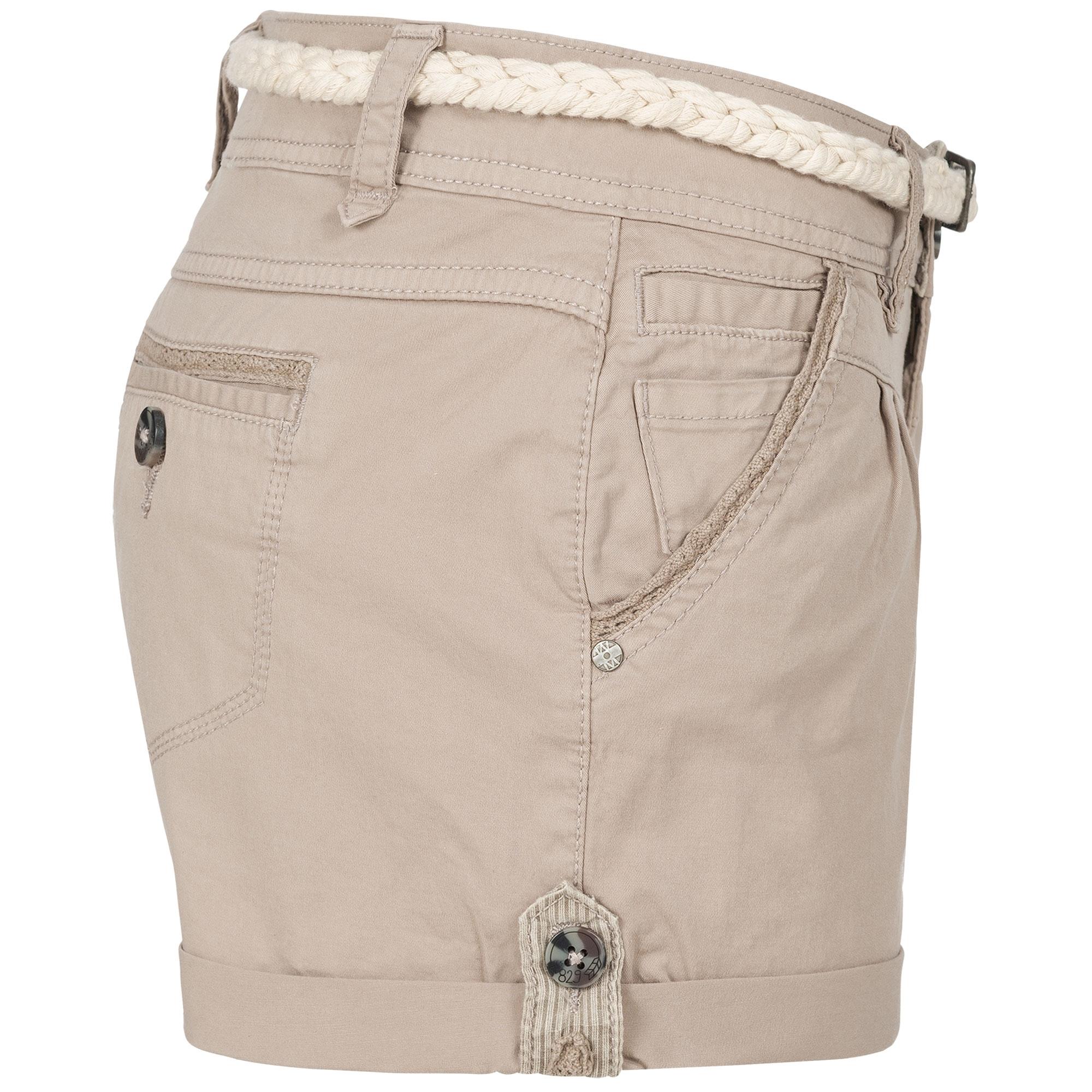 Indexbild 31 - Eight2Nine Damen Chino Bermuda Stretch Shorts mit Flecht Gürtel Hotpants