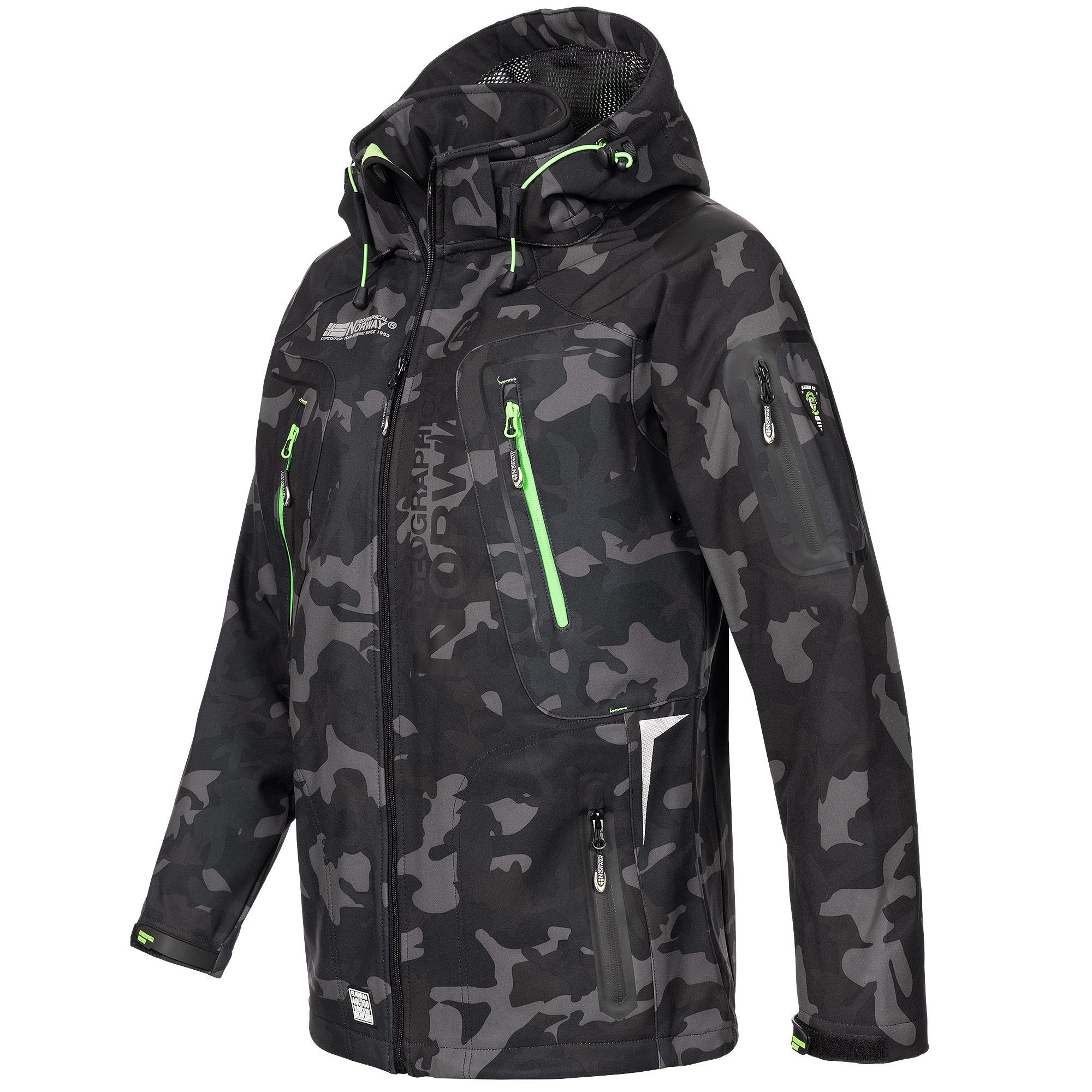 Geographical-Norway-Camouflage-Herren-Softshell-Funktions-Outdoor-Regen-Jacke Indexbild 3
