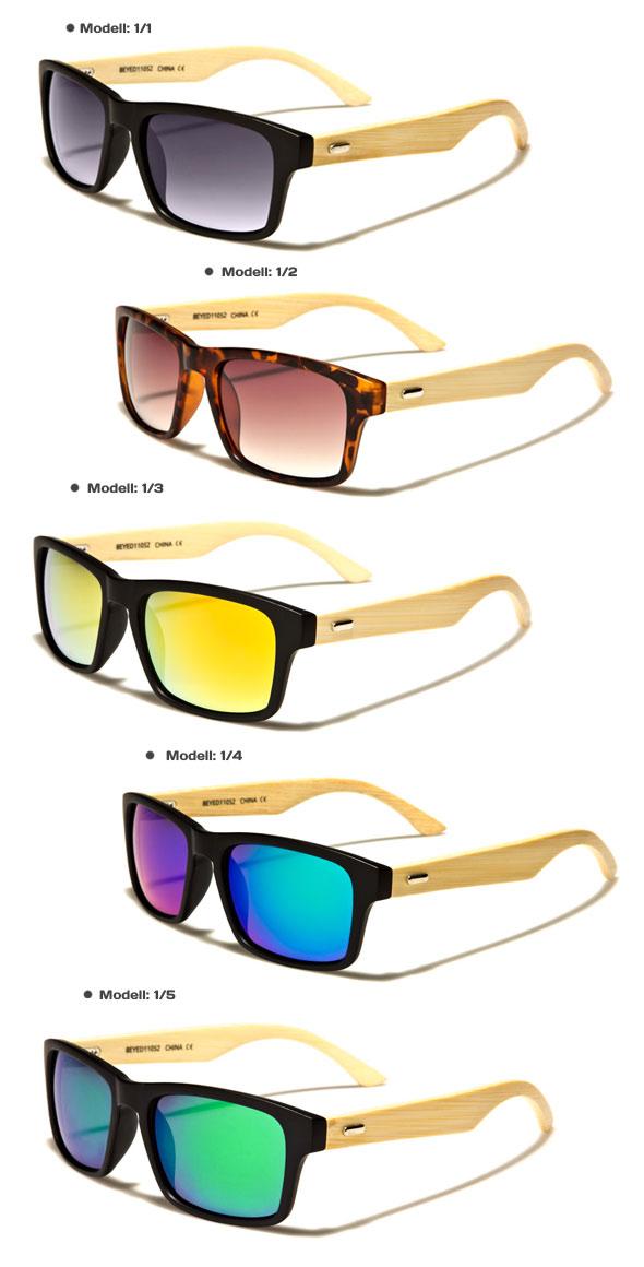 Wayfarer Bambus Holz Sonnenbrille Fashion Unisex 5/2 3TJ5gjPKZ