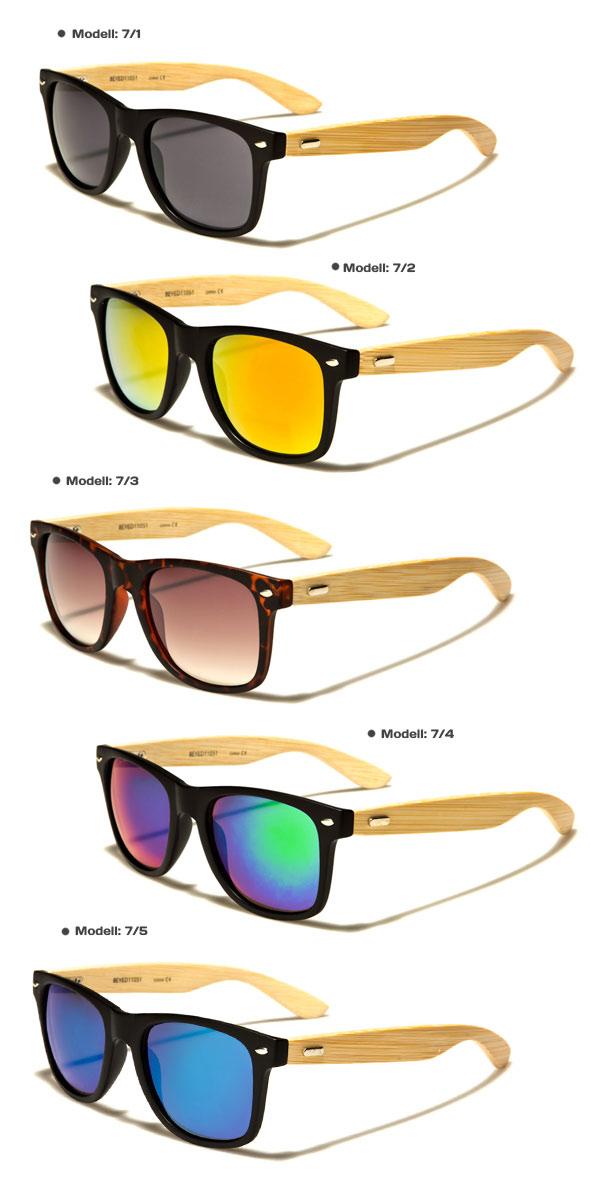Wayfarer Bambus Holz Sonnenbrille Fashion Unisex 9/5 OURgrSWC