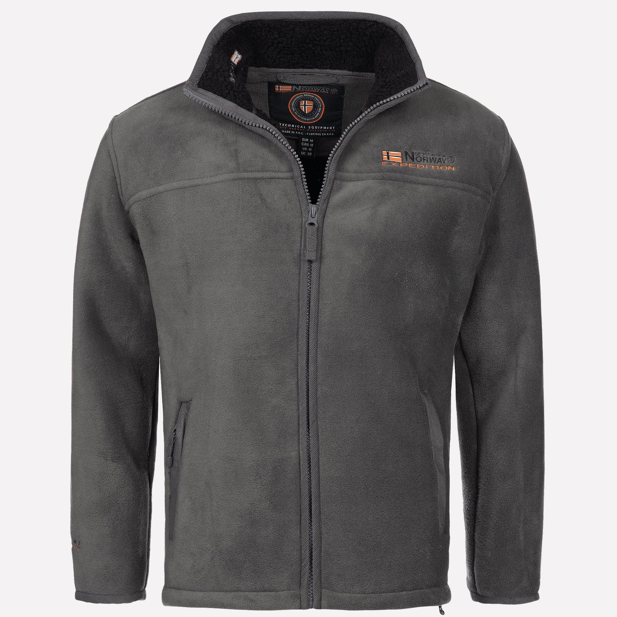 Details zu Geographical Norway Herren warme Fleece Winter Übergangs Outdoor Jacke Sweat