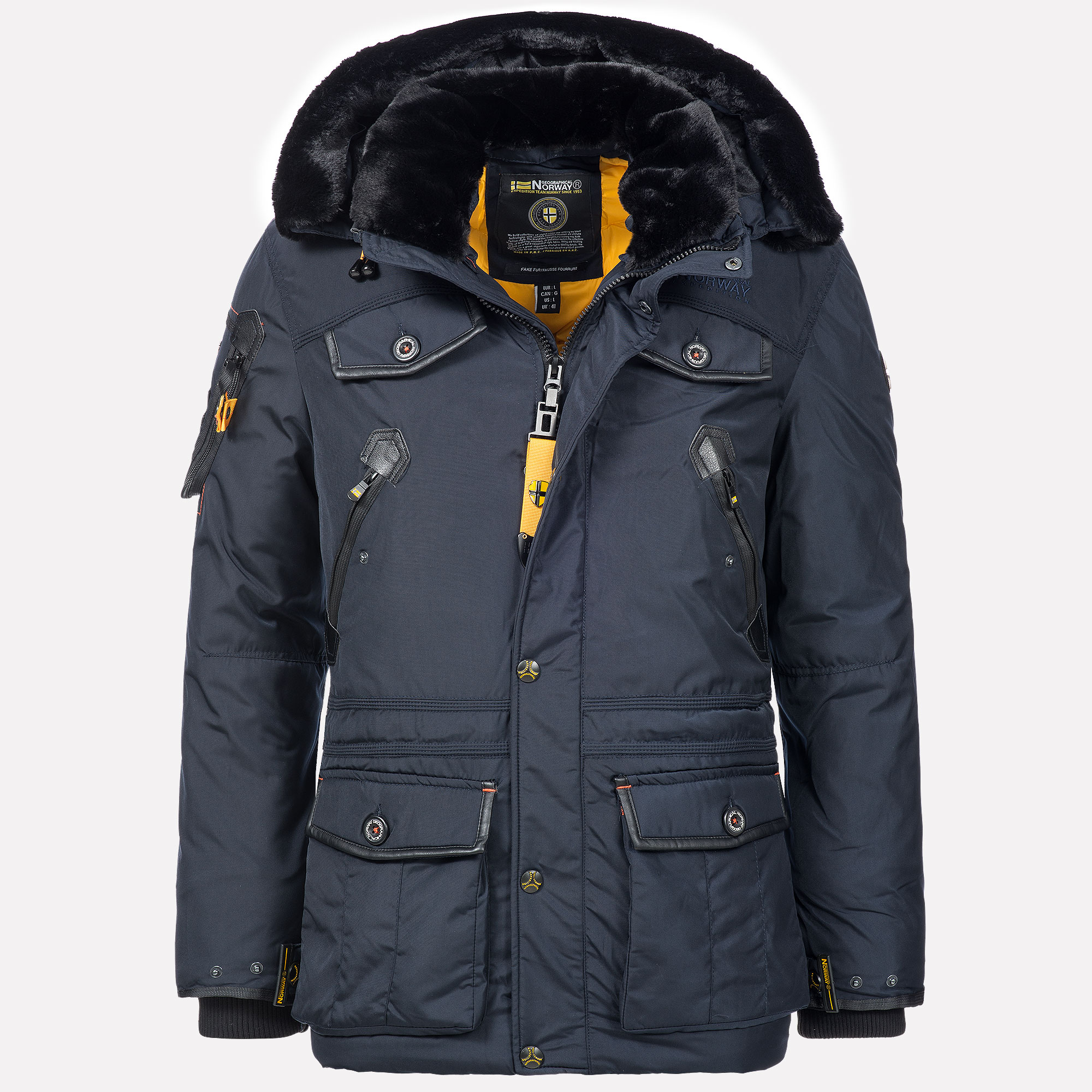 Geographical Norway Acore Parka Homme Noir