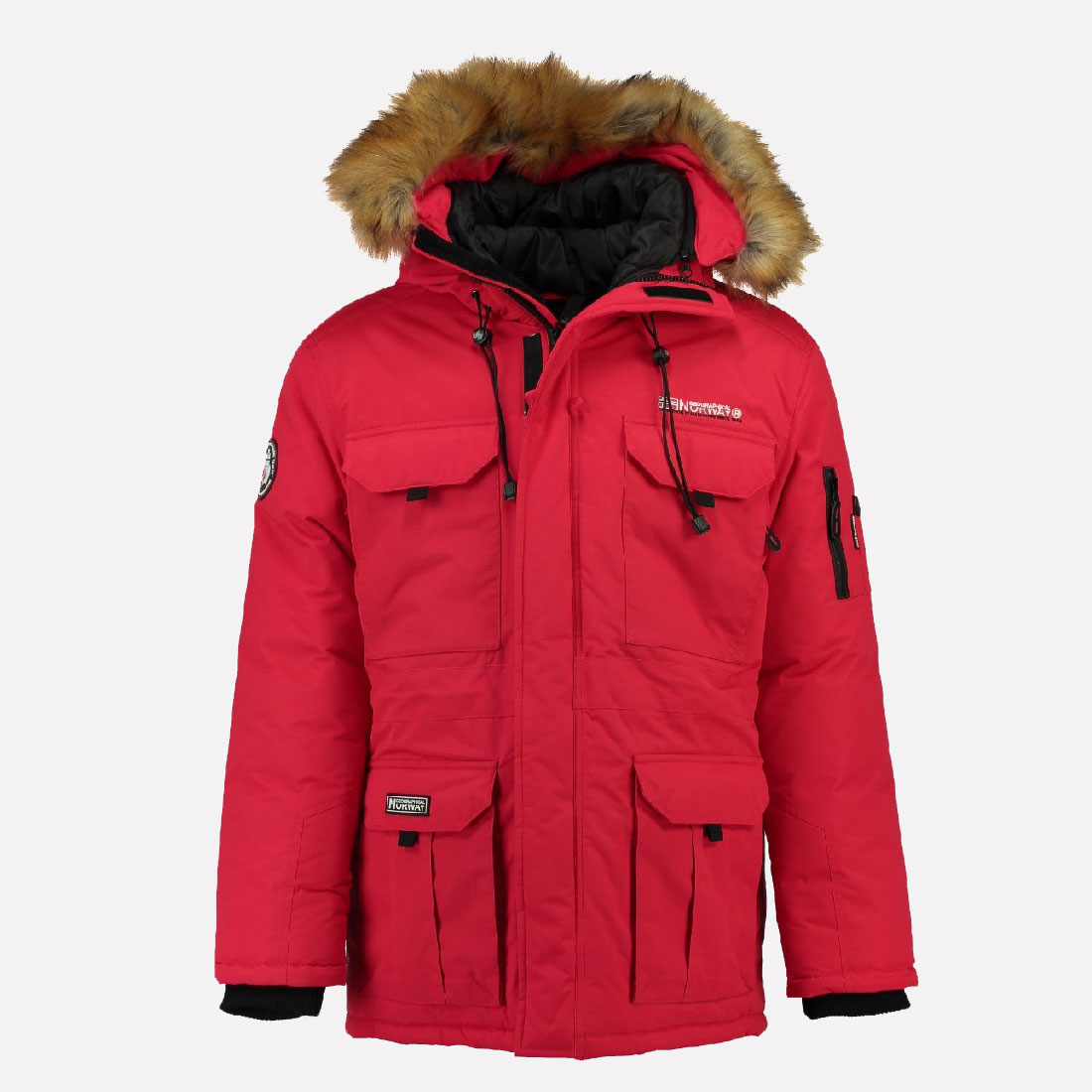geographical norway men 39 s parka outdoor coat very warm winter jacket ski new ebay. Black Bedroom Furniture Sets. Home Design Ideas