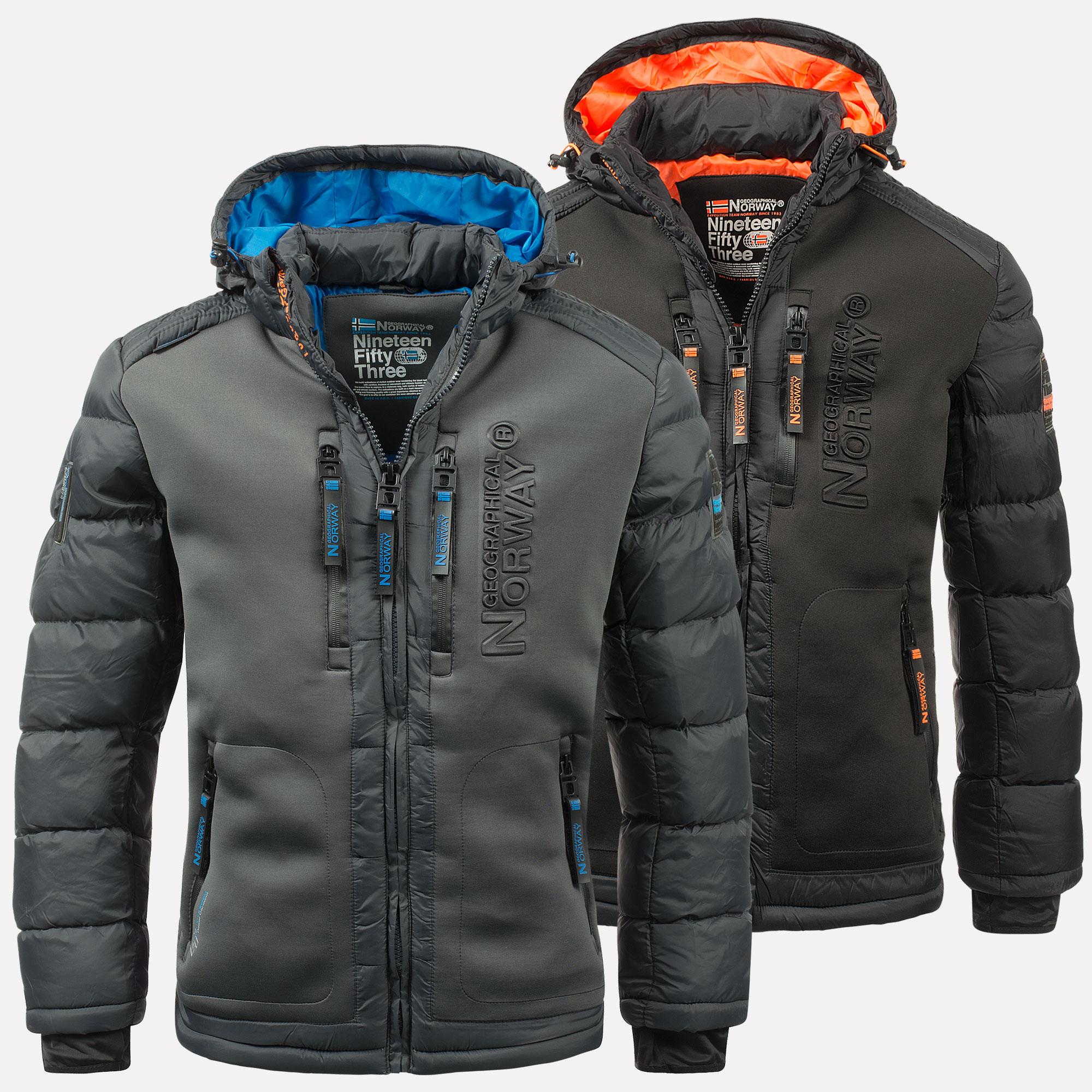 Geographical Norway warme Designer Herren Winter Stepp Jacke