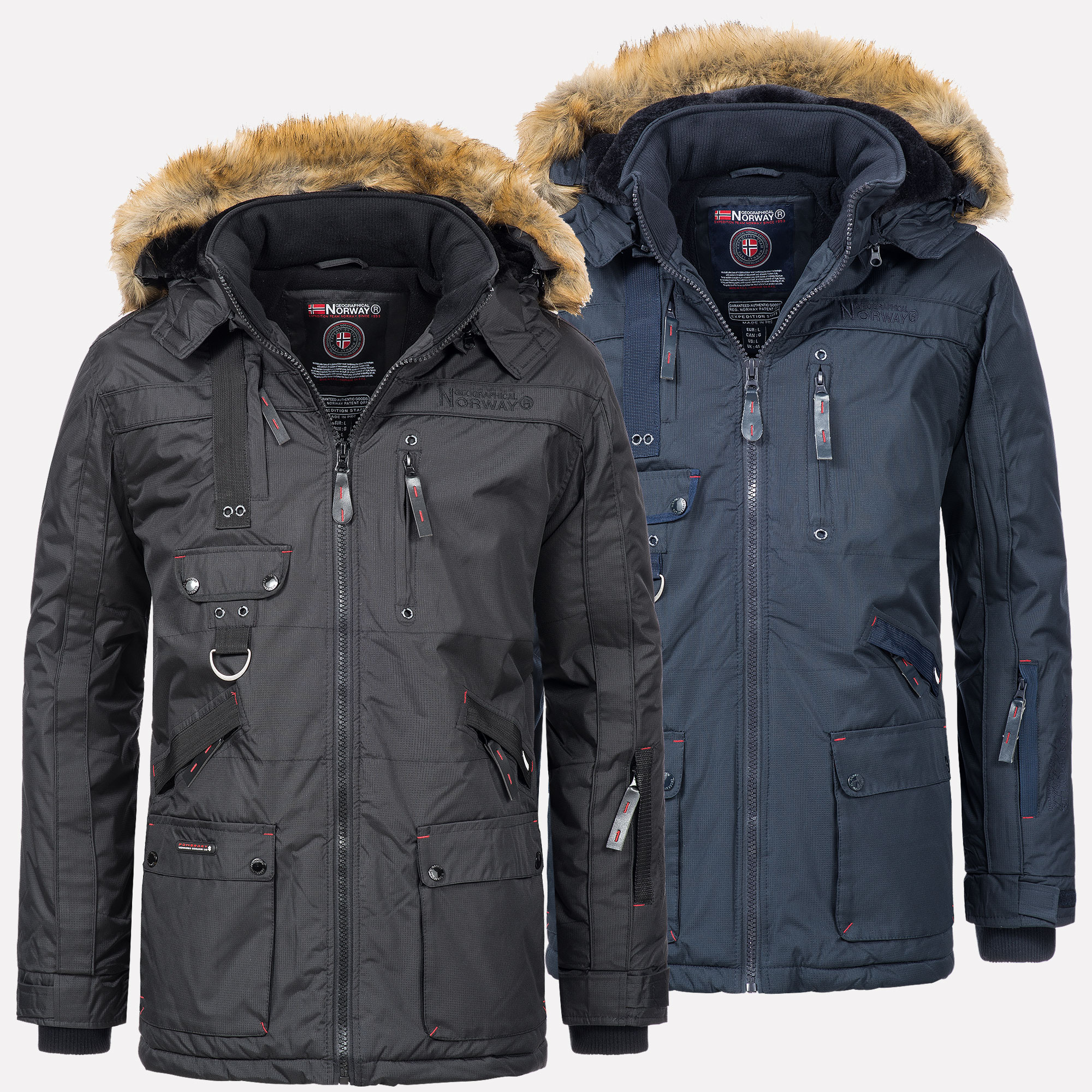 Geographical Norway Techno Men's Royal Blue Parkas