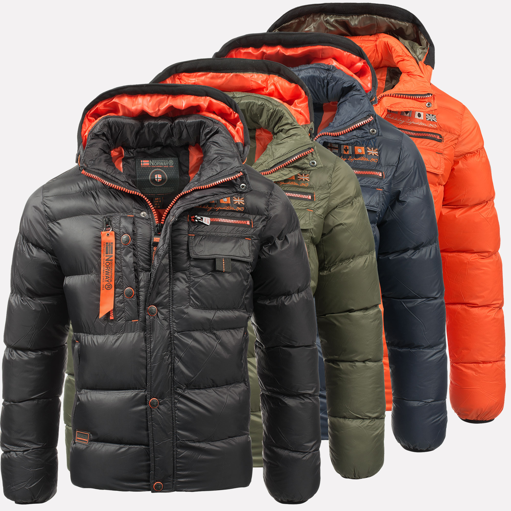 Geographical Norway Warm Designer Mens Winter Quilted Jacket Winter Jacket New | eBay