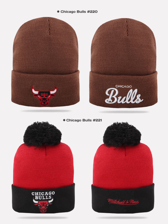 ef4363c4db4 Mitchell   Ness and Beanie Winter Hat Cap Chicago Bulls Various ...