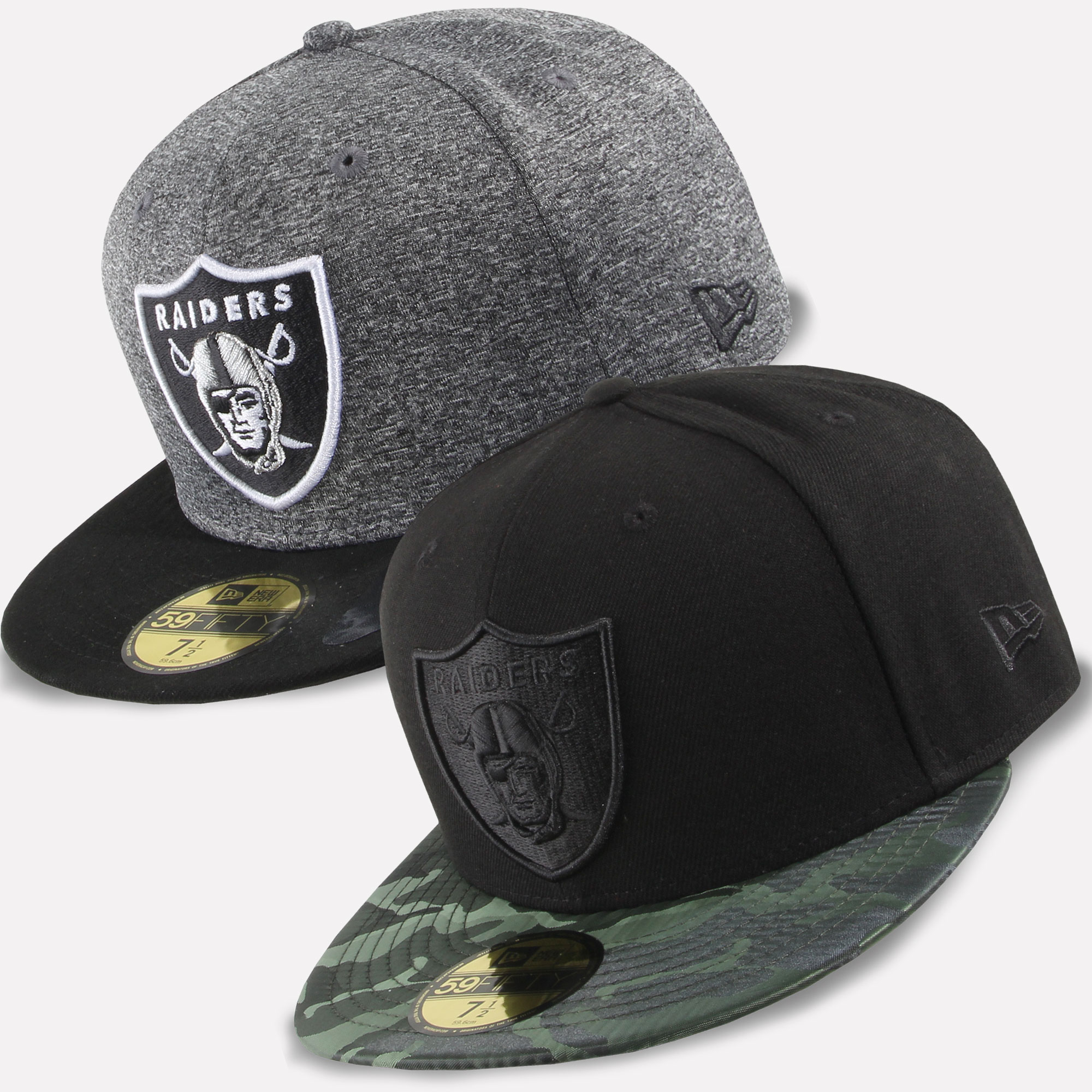 New Era Cappello 59fifty Fitted Predoni di Oakland NFL Football  6fcc6b00a906