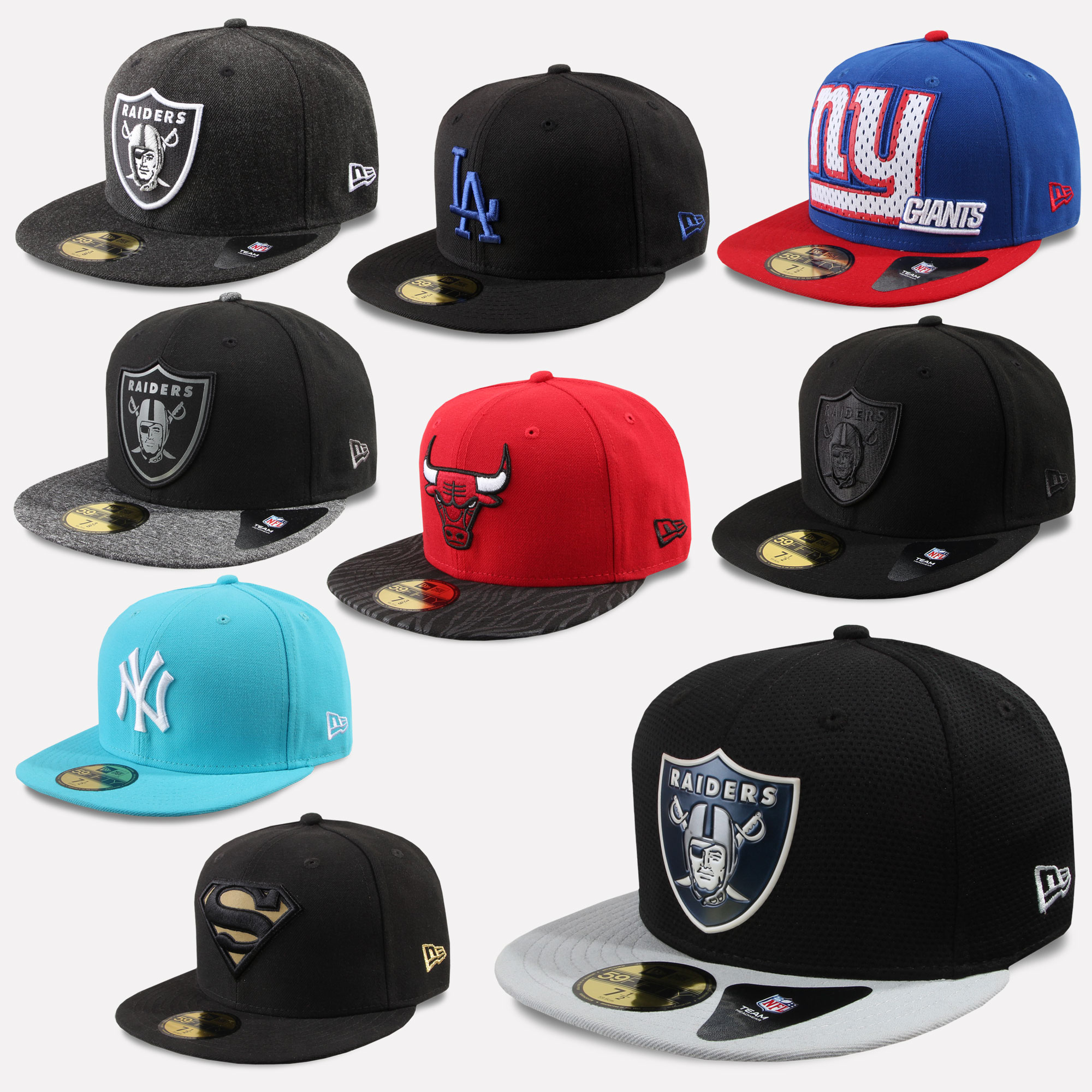 New Era Cap 59Fifty Fitted Yankees Chicago Bulls Superman Oakland ... e93af38023b5