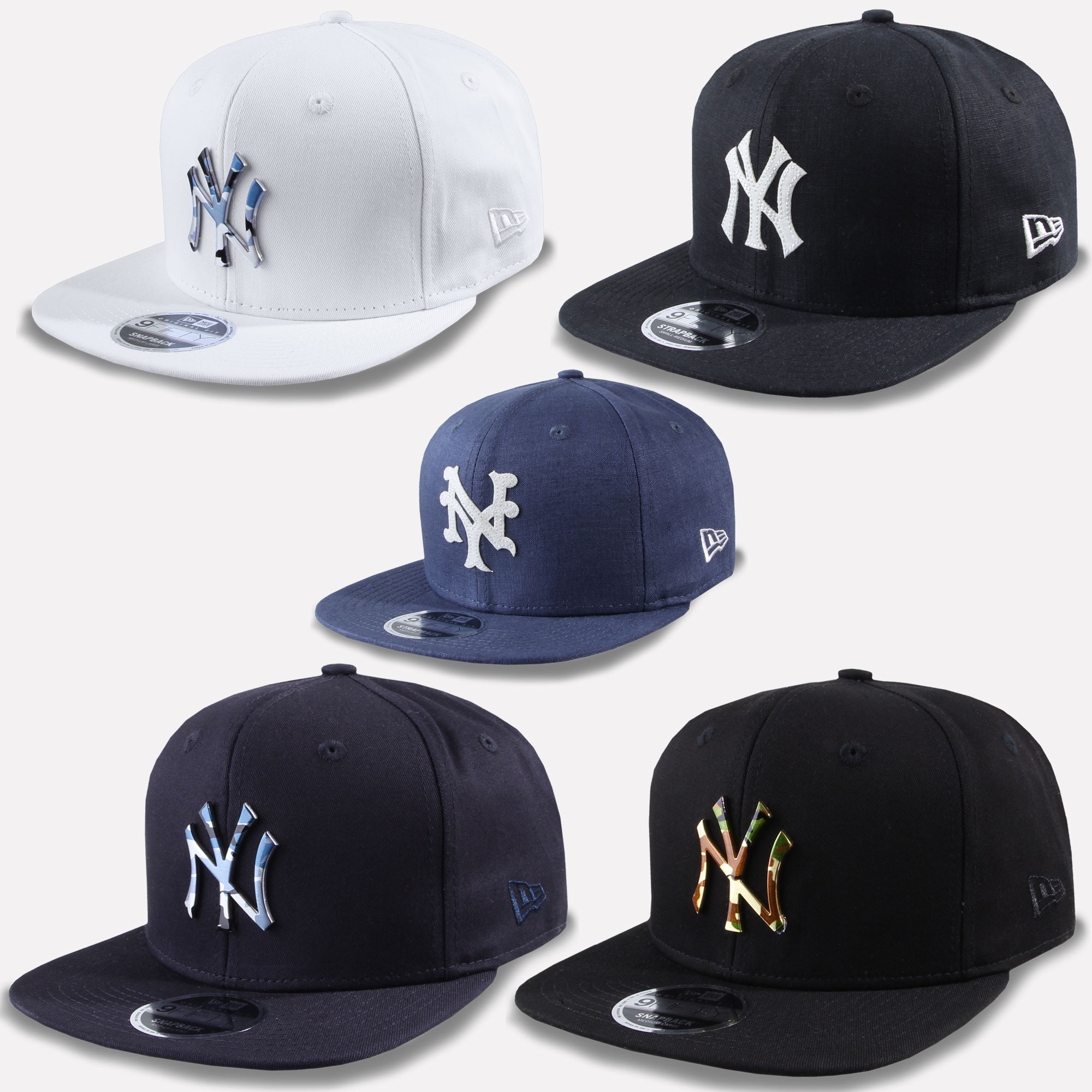94078a83c95 New Era 9fifty Snapback Cap MLB Team New York Yankees Camo Metal New ...
