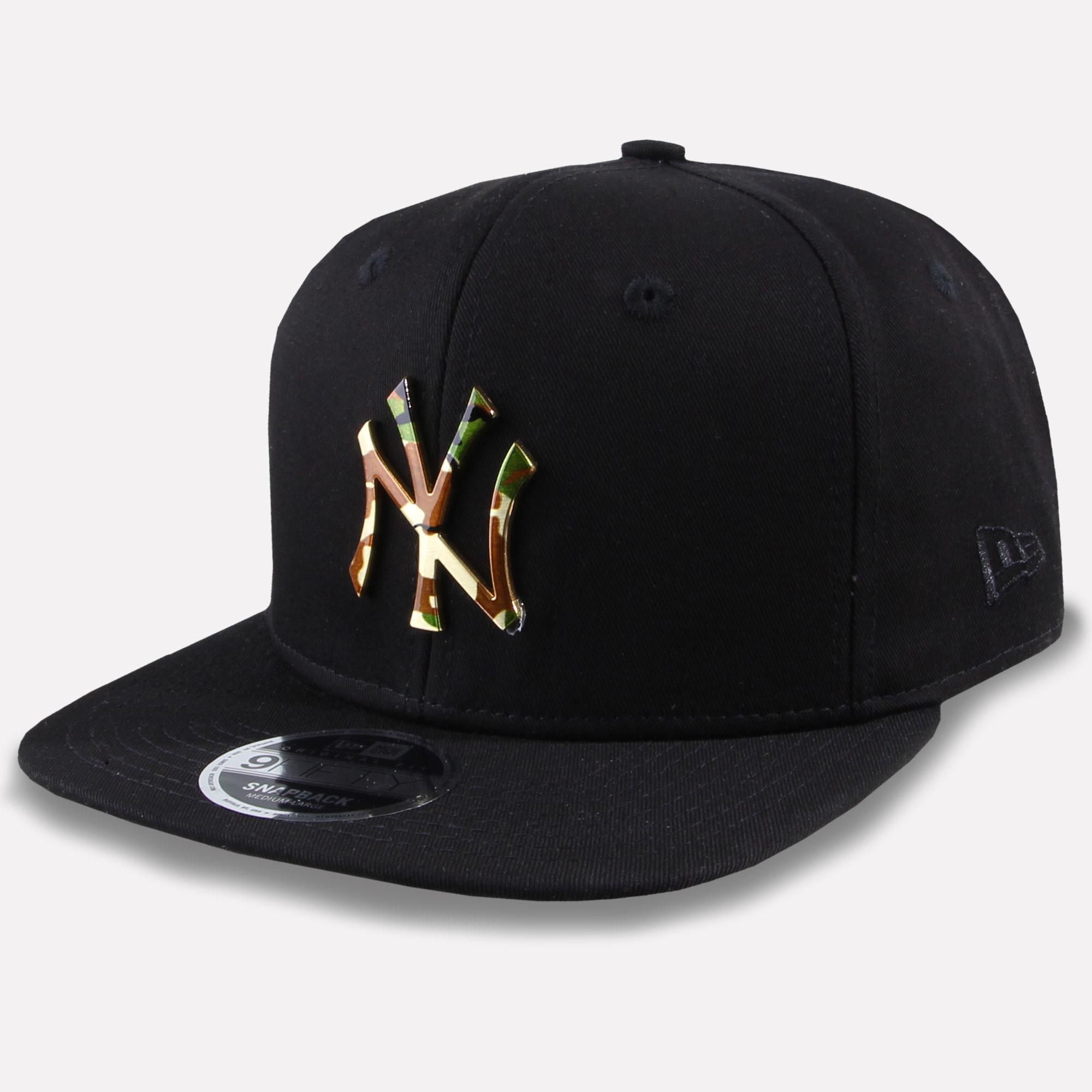 New Era 9Fifty Snapback Cap MLB Team New York Yankees Camo Metal New ... 08b4fb803616