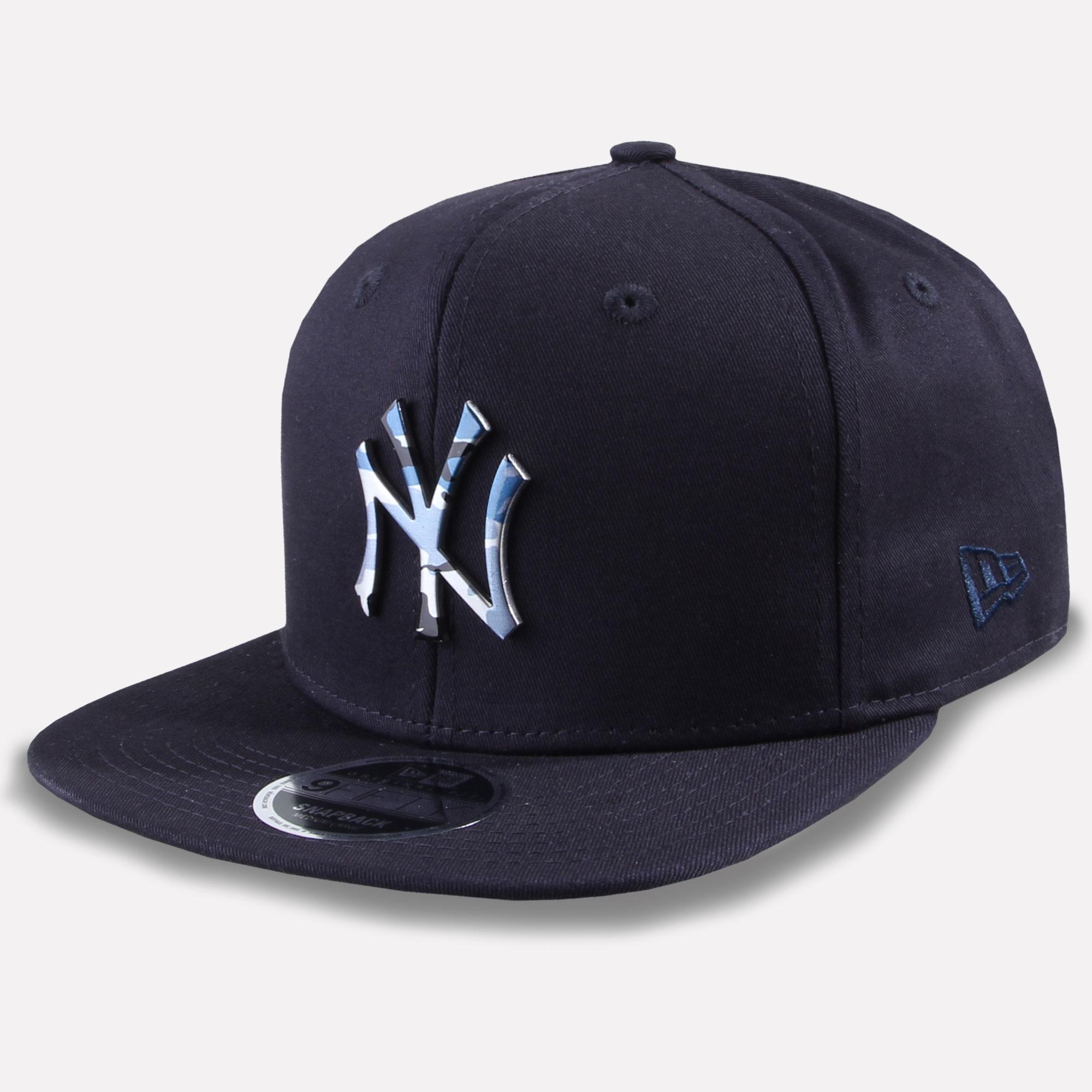 7bb8075404b46 New Era 9Fifty Snapback Cap MLB Team New York Yankees Camo Metal New ...