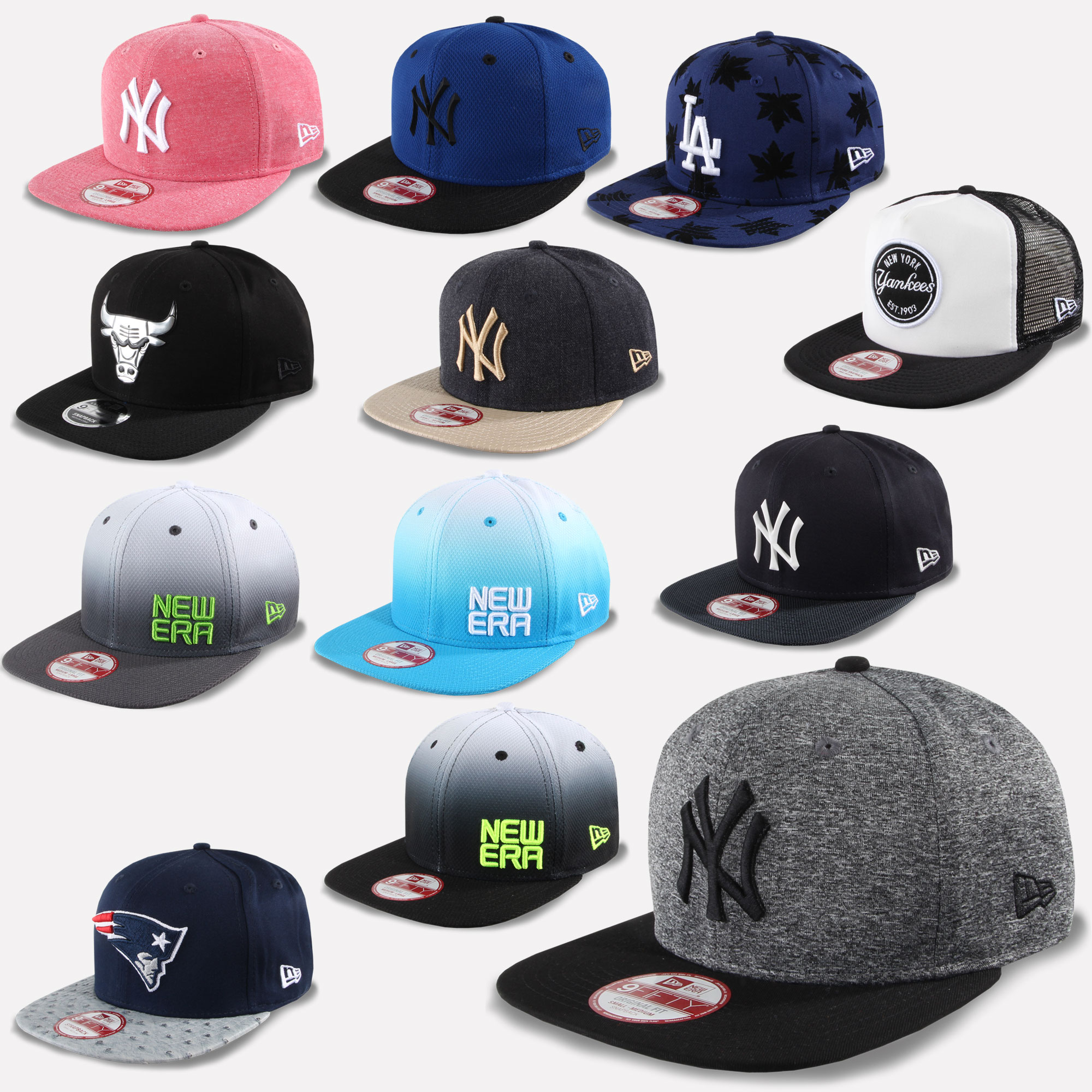 New Era Cappello Snapback 9Fifty New York Yankees Patriots Chicago ... e8ee5636b0a8
