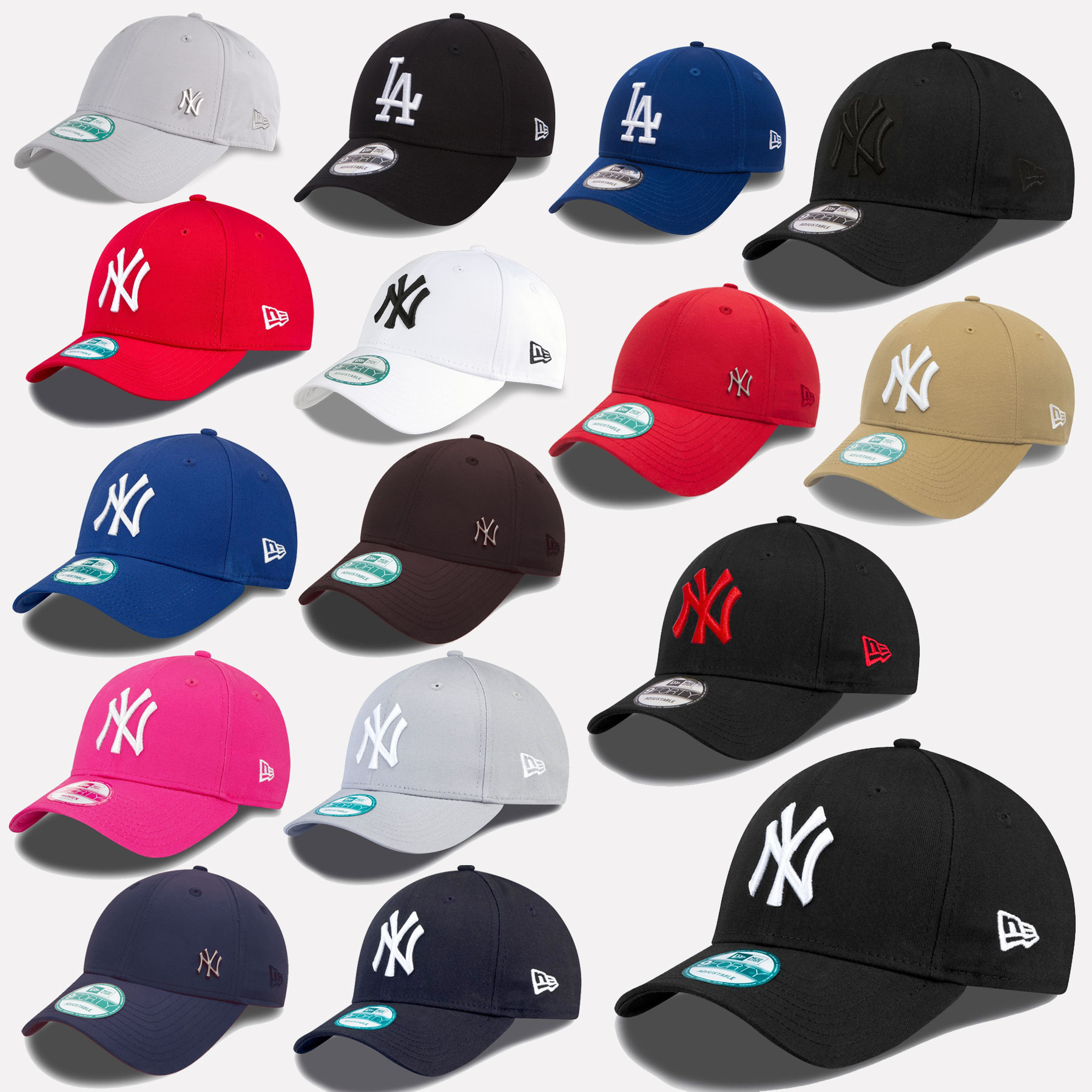 New Era MLB 9Forty Cap New York Yankees Baseball Los Angeles Dodgers ... 9846736b72c5