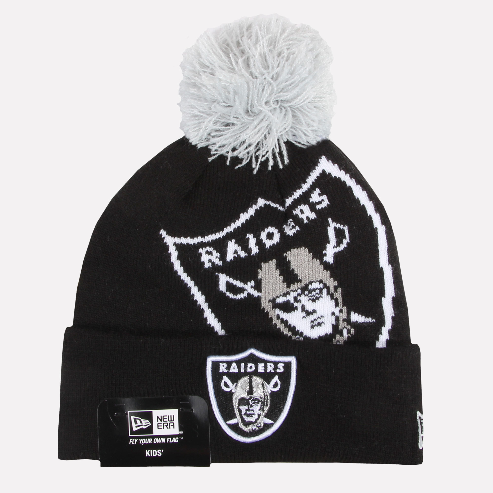 New Era Children Beanie Winter Hat Cap Boys Girls Yankees Raiders ... abb0ea7188d