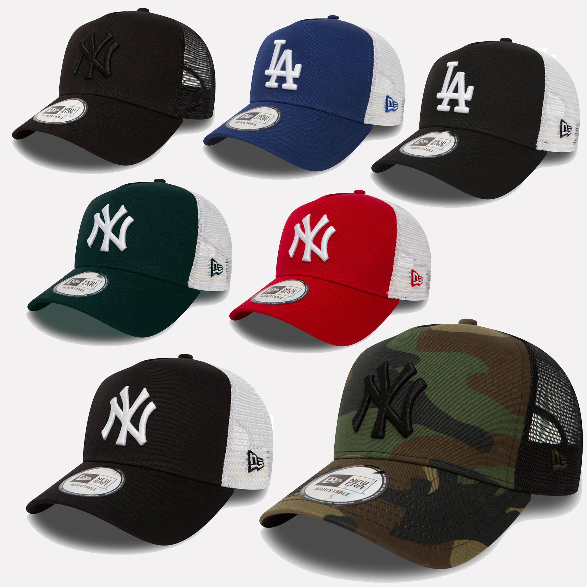 New Era Trucker Mesh Cap Baseball York Yankees dodgeers  22325ce14bb5